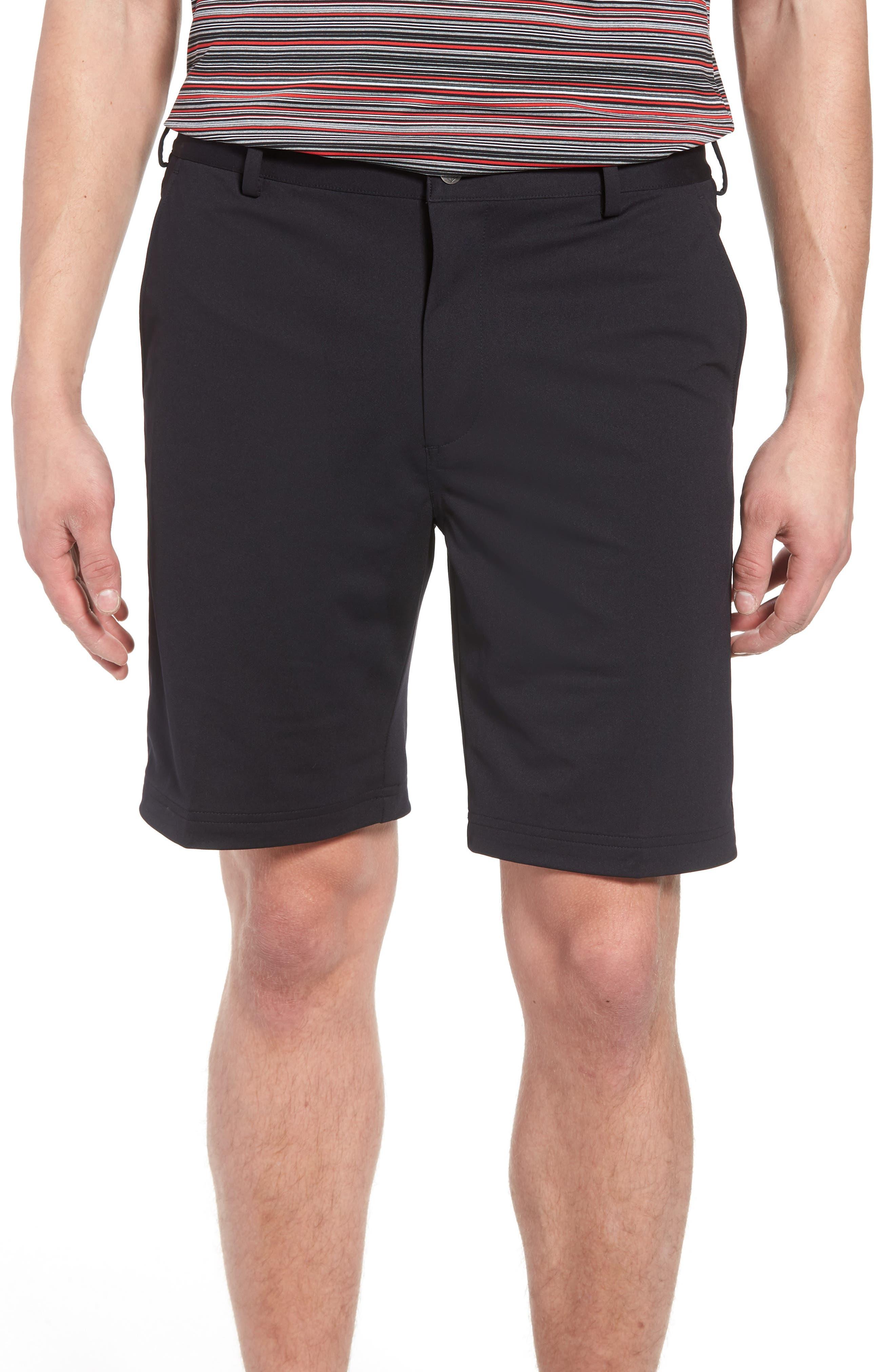 BOBBY JONES,                             Trim Fit Tech Chino Shorts,                             Main thumbnail 1, color,                             001