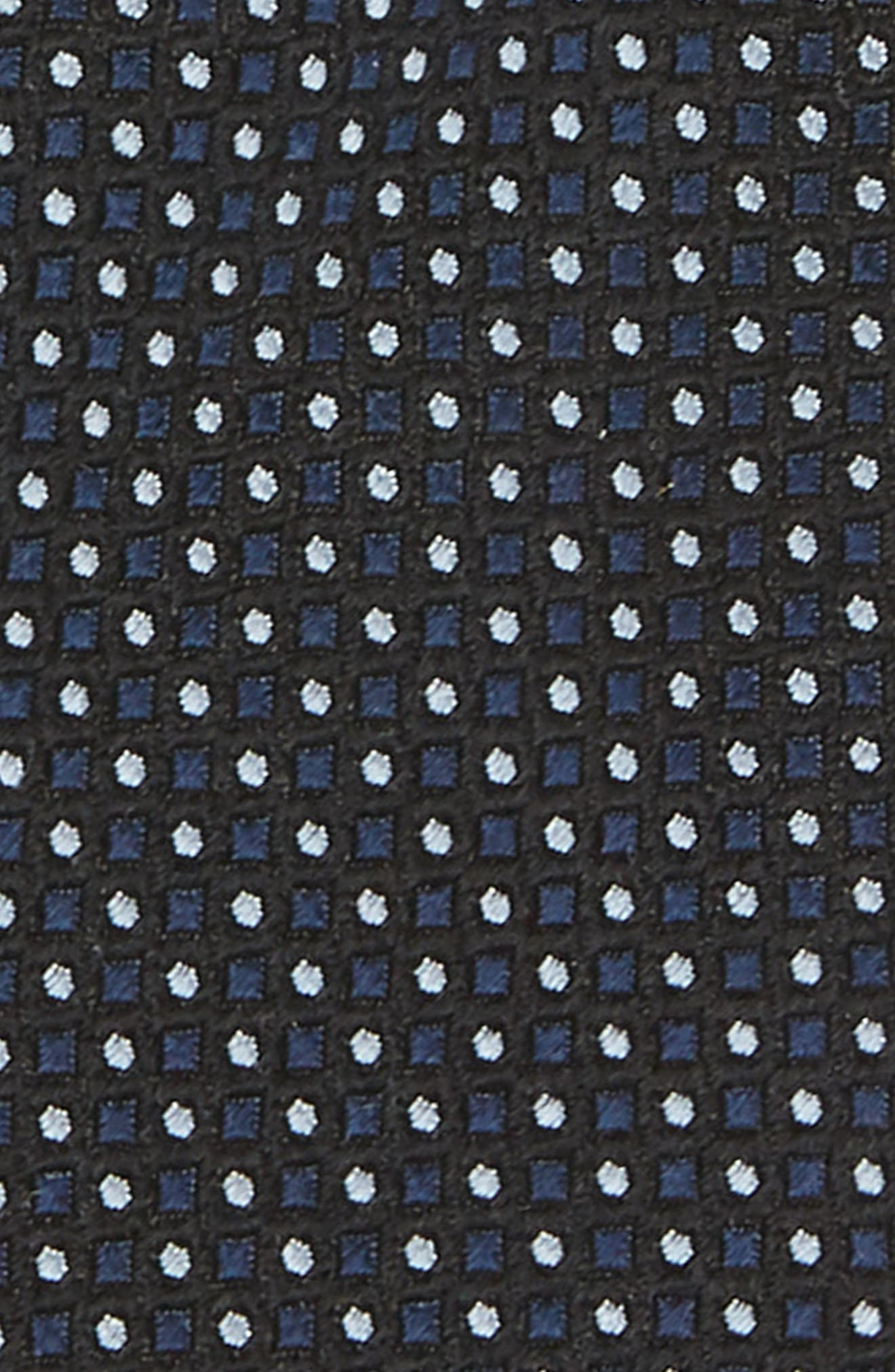 Diamonds & Dots Print Silk Tie,                             Alternate thumbnail 4, color,