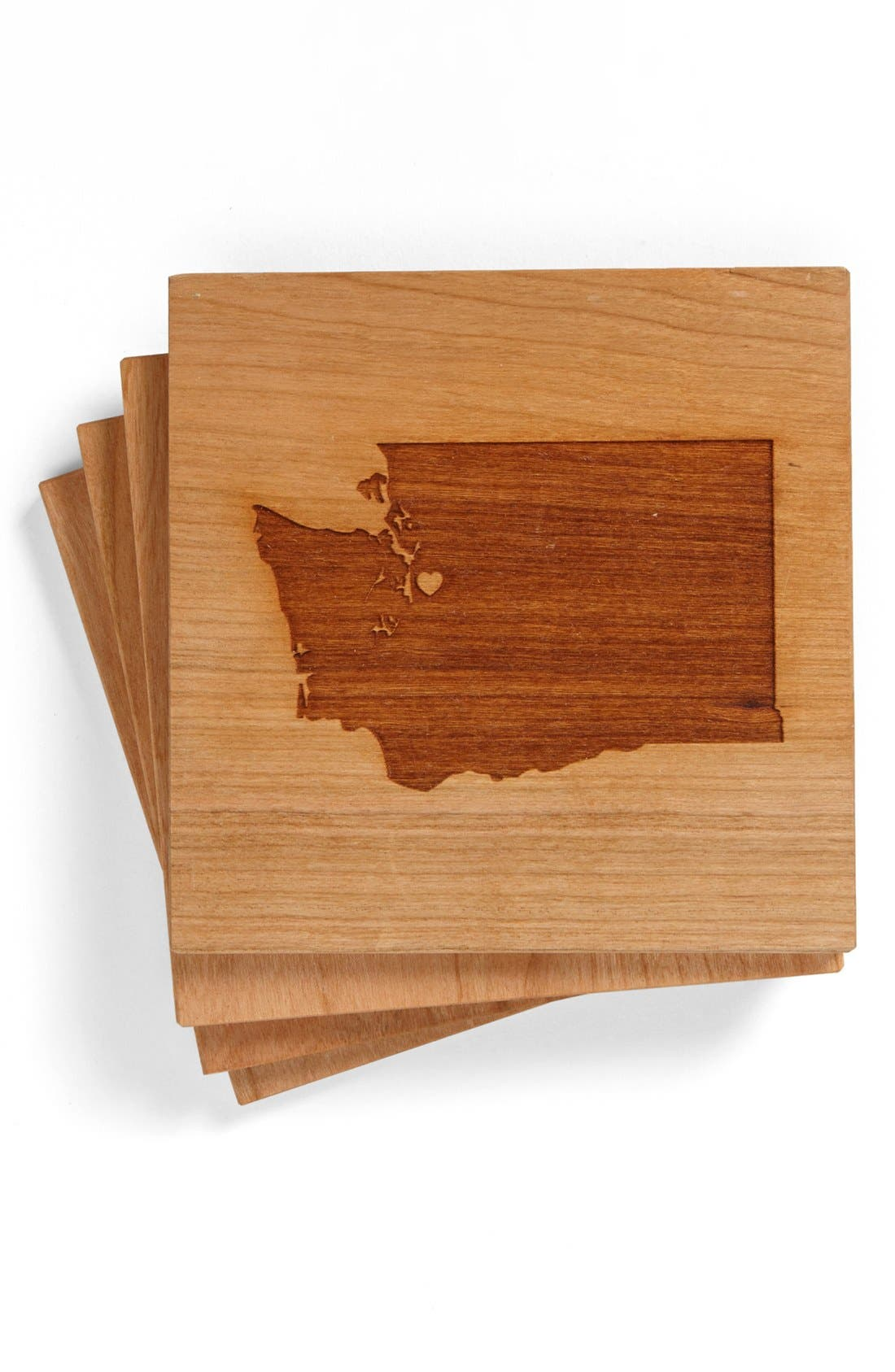 'State Silhouette' Coasters,                             Main thumbnail 1, color,