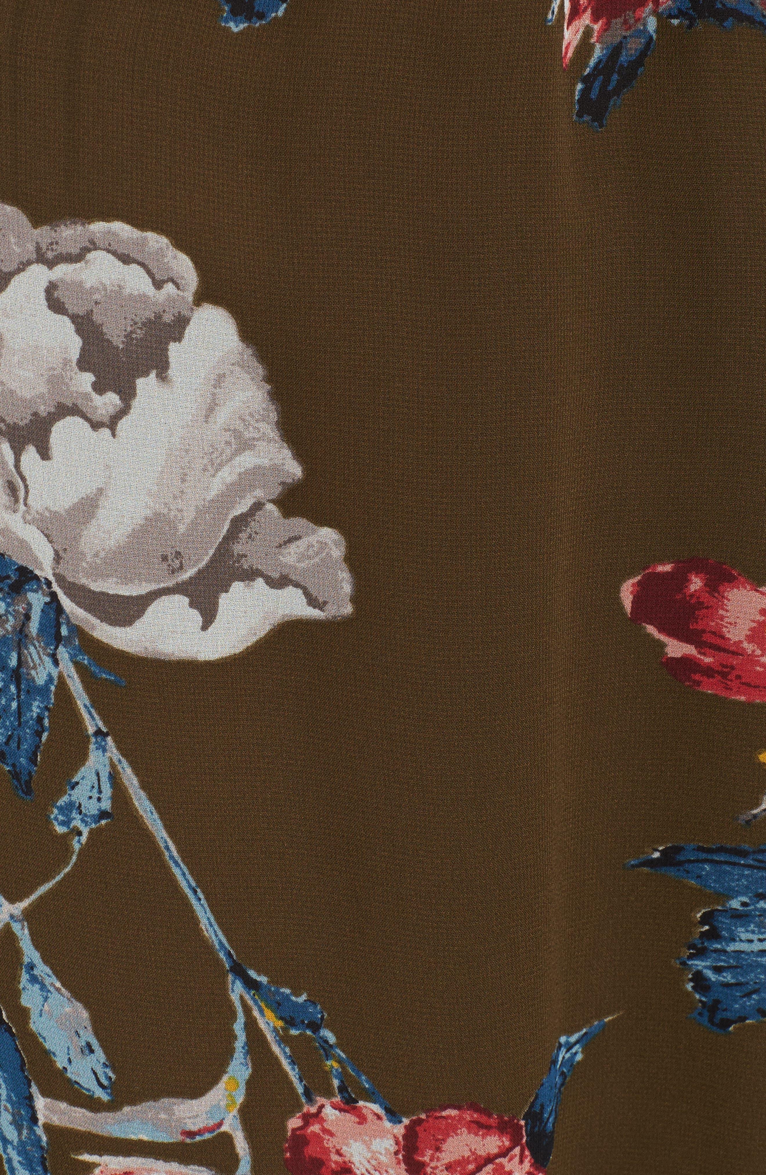 Floral Off the Shoulder Dress,                             Alternate thumbnail 5, color,                             300