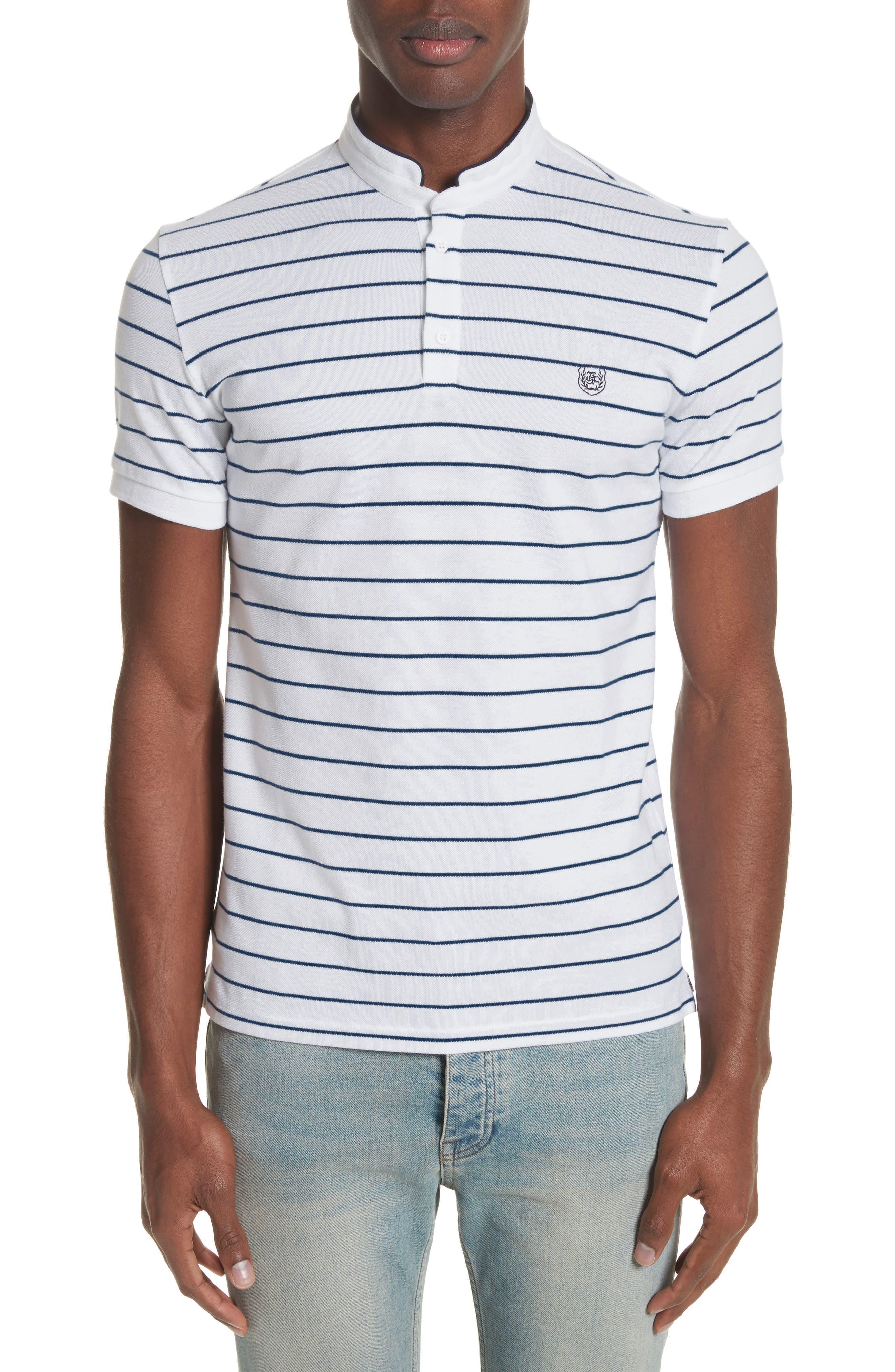 Stripe Officer Polo Shirt,                             Main thumbnail 1, color,                             100