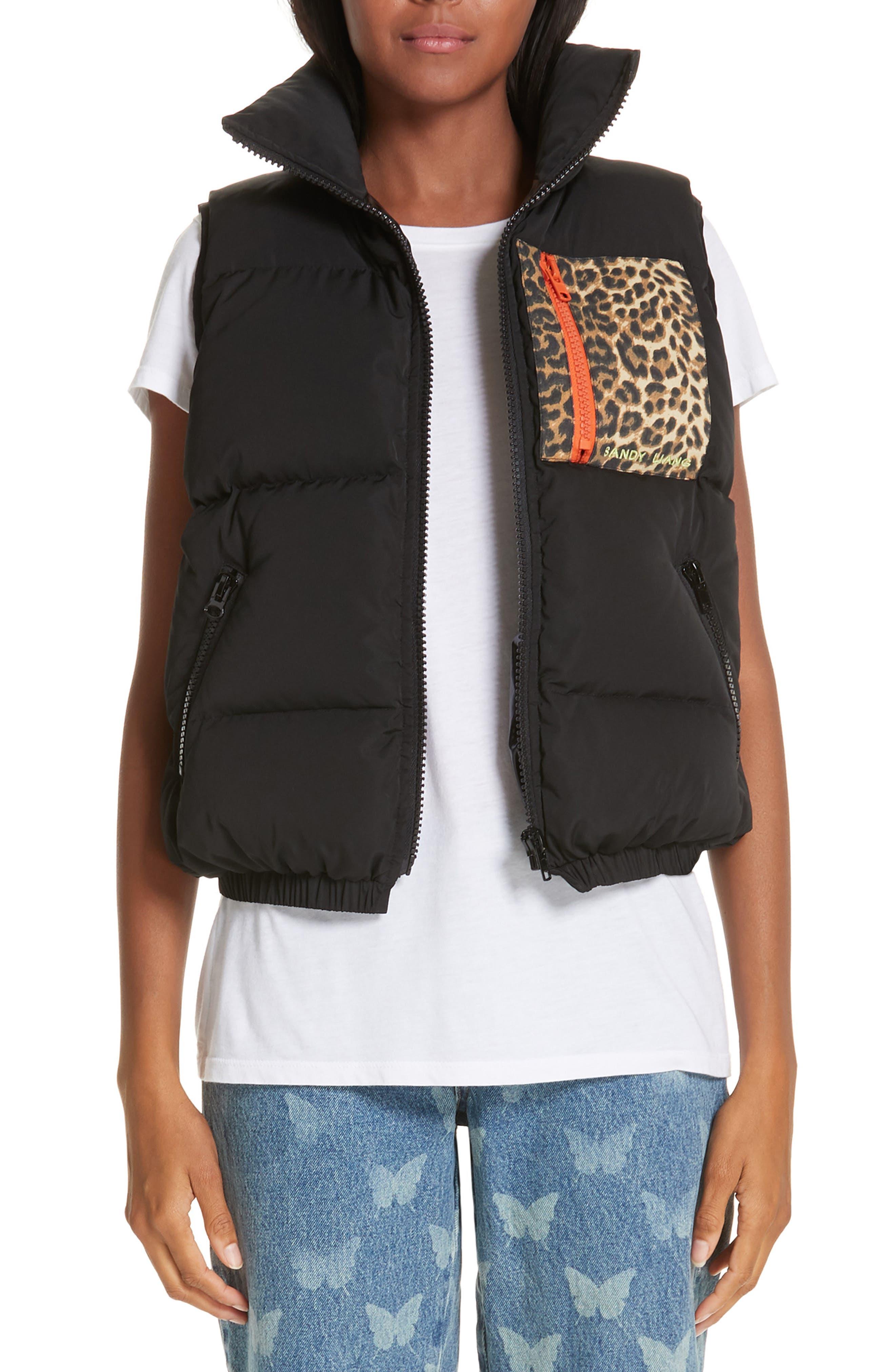 Primrose Down Puffer Vest,                             Main thumbnail 1, color,                             BLACK