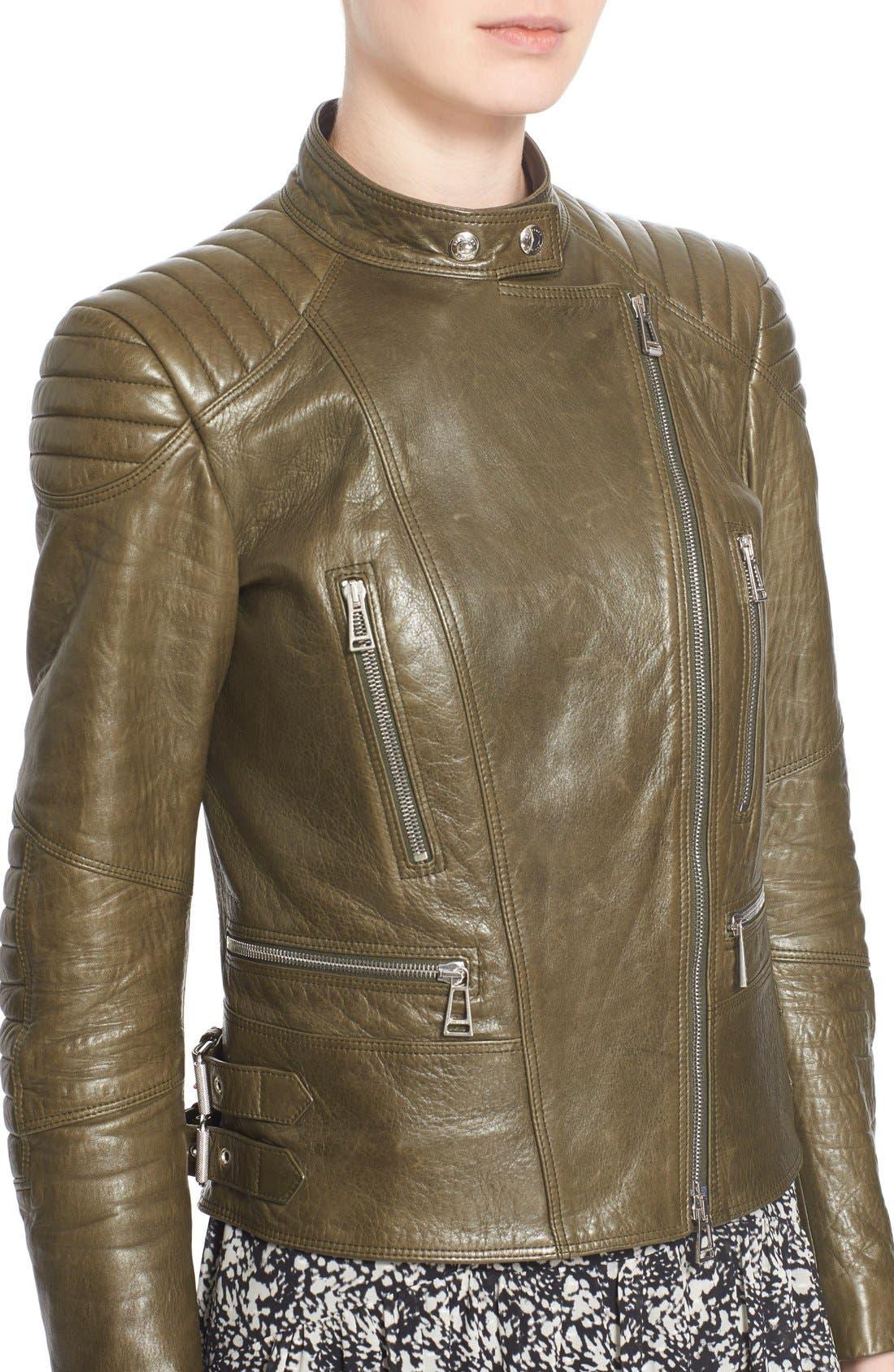 'Sidney' Leather Moto Jacket,                             Alternate thumbnail 7, color,                             338