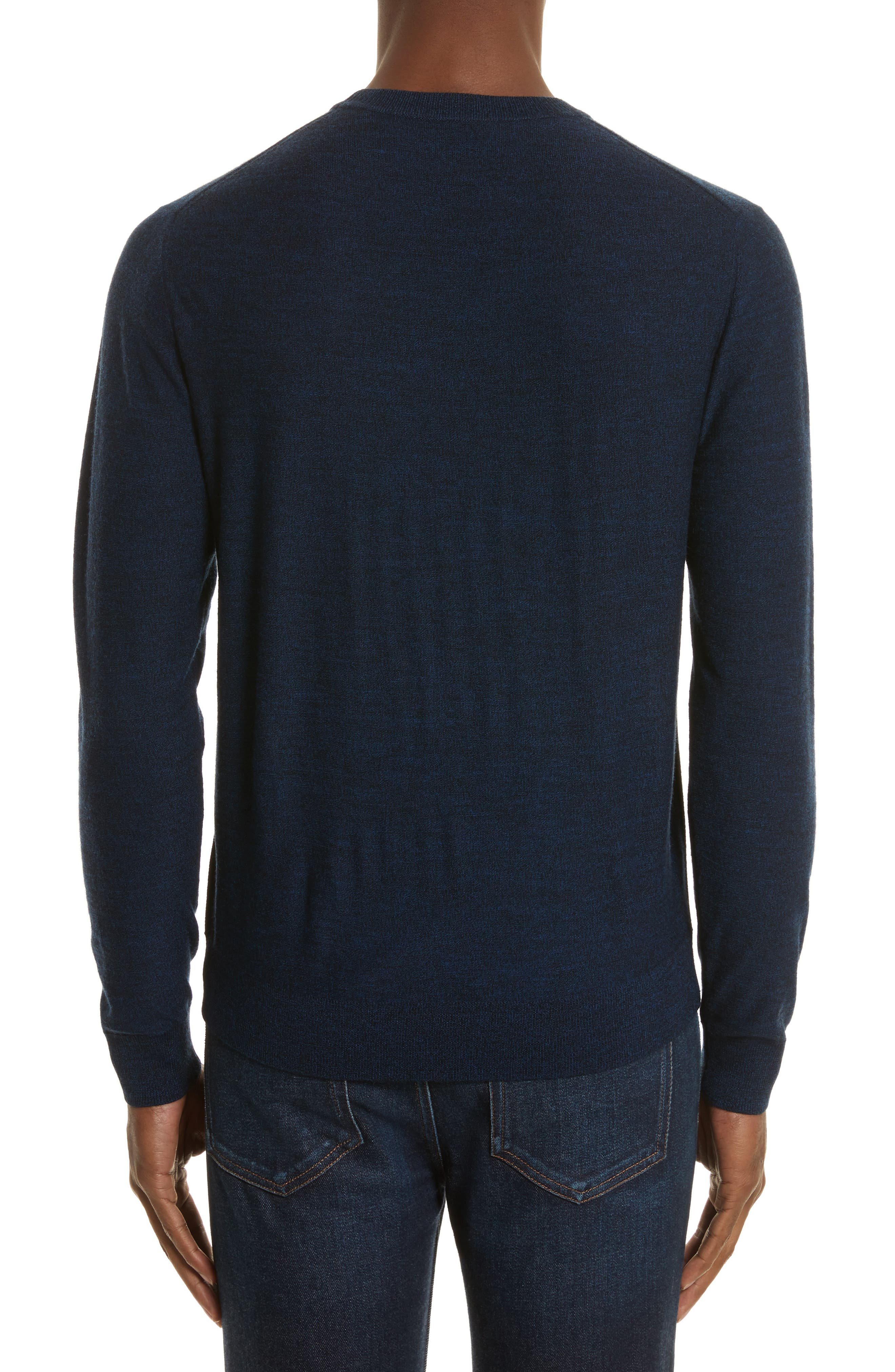 Side Stripe Merino Wool Sweater,                             Alternate thumbnail 2, color,                             410
