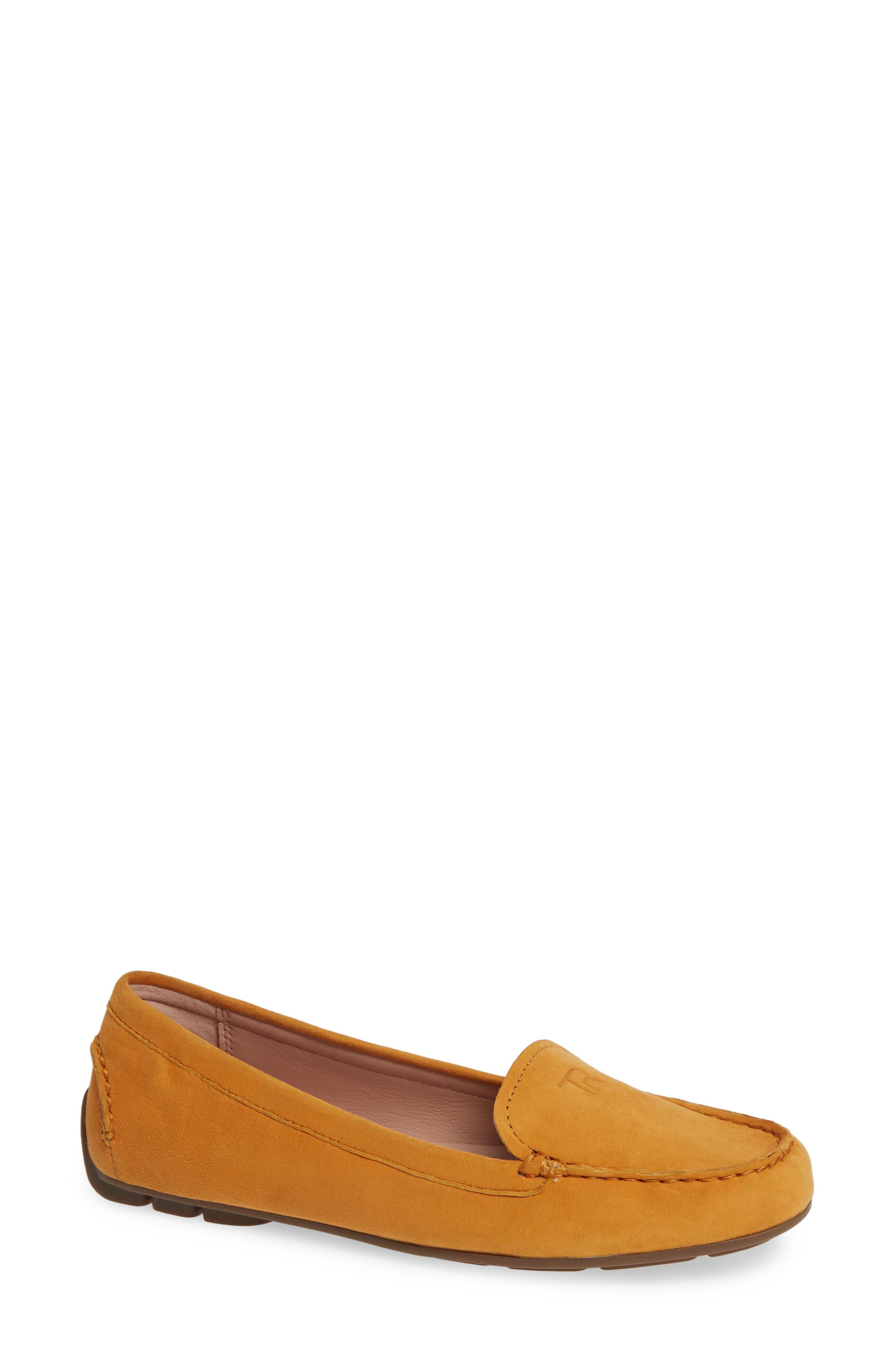 Taryn Rose Karen Water Resistant Driving Loafer, Yellow