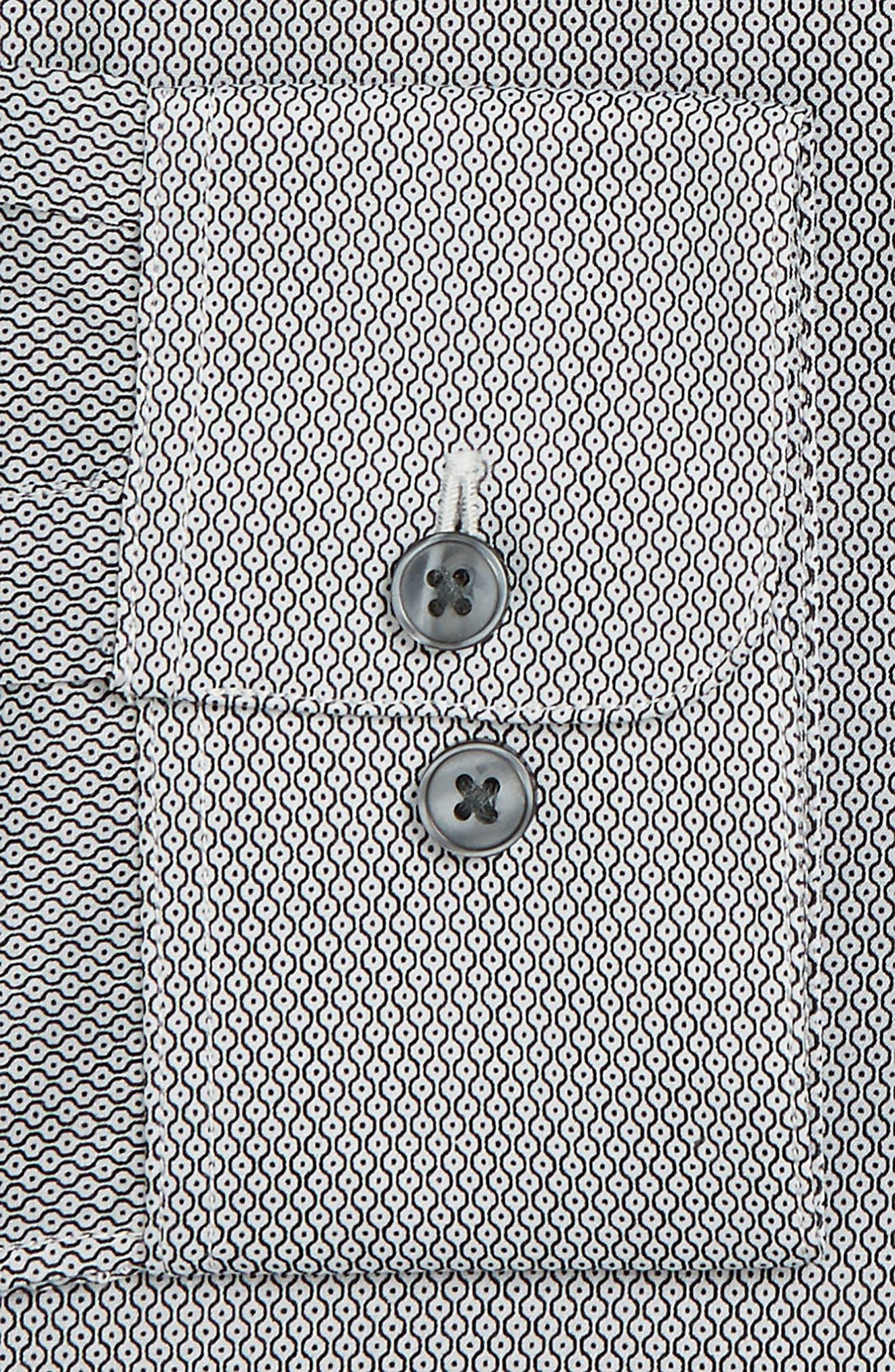Slim Fit Geometric Dress Shirt,                             Alternate thumbnail 2, color,                             006
