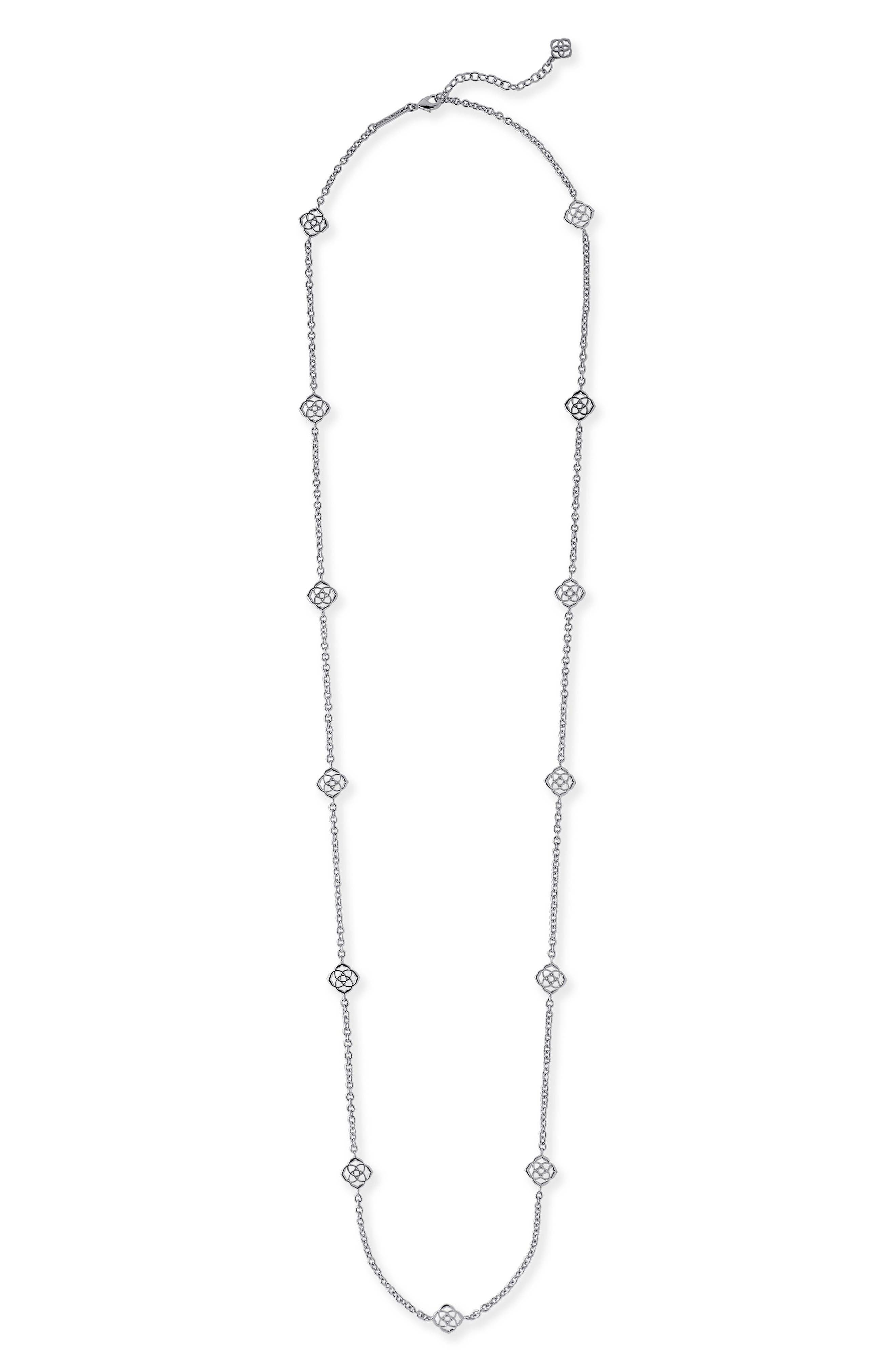 'Devalyn' Station Necklace,                             Main thumbnail 1, color,                             SILVER