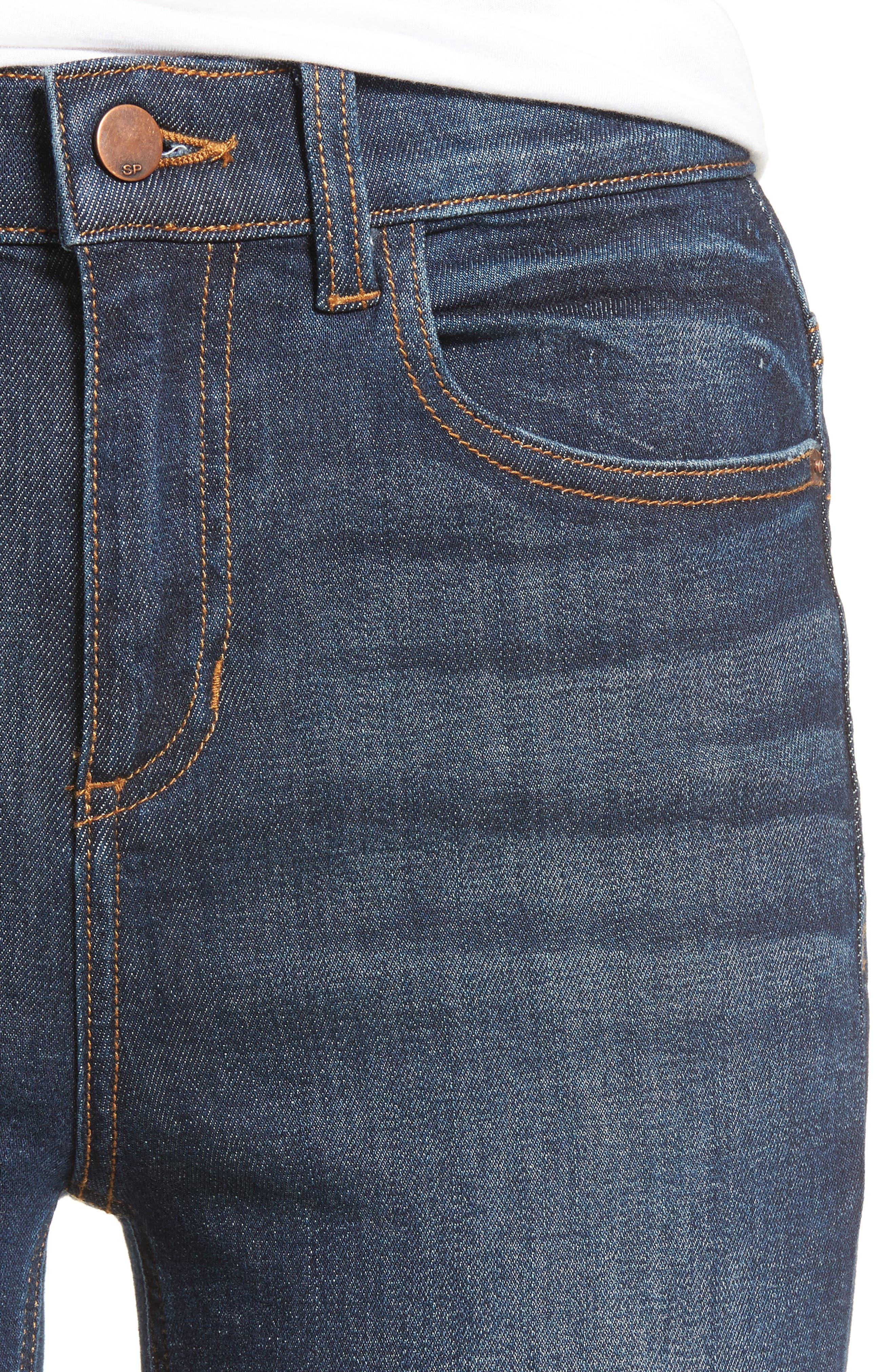 Split Hem Skinny Jeans,                             Alternate thumbnail 5, color,                             401