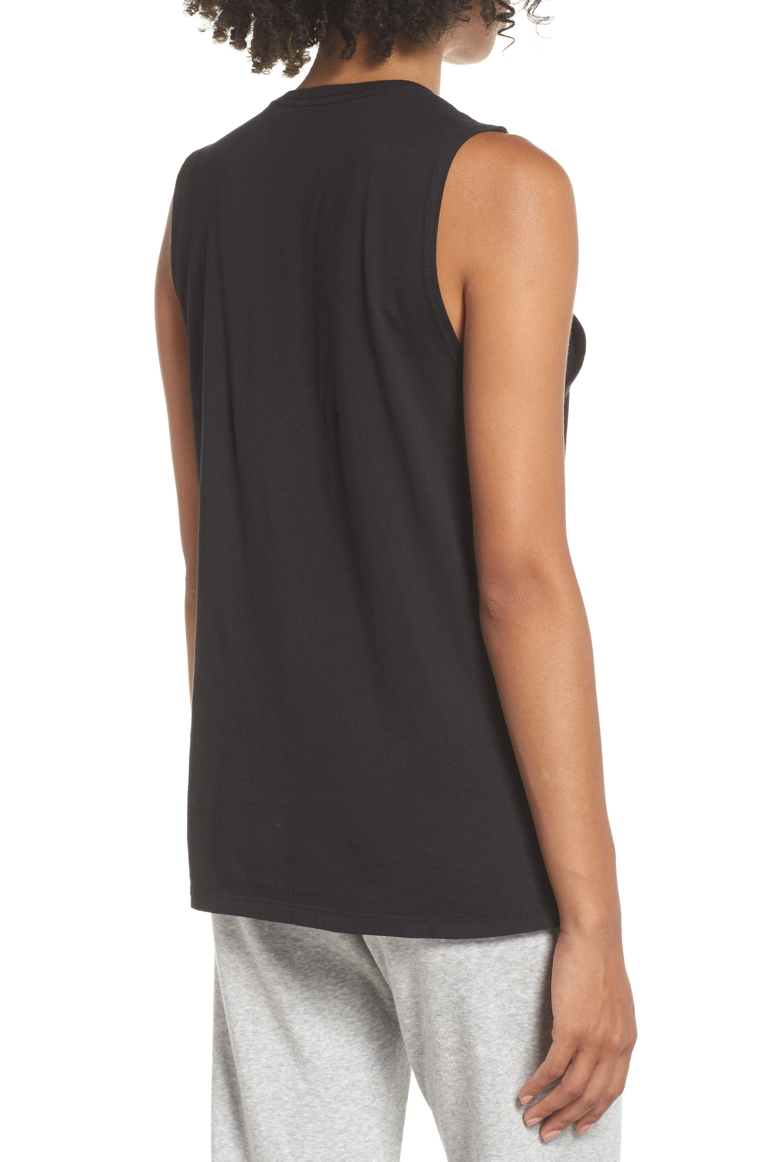Muscle Tank,                             Alternate thumbnail 2, color,                             BLACK