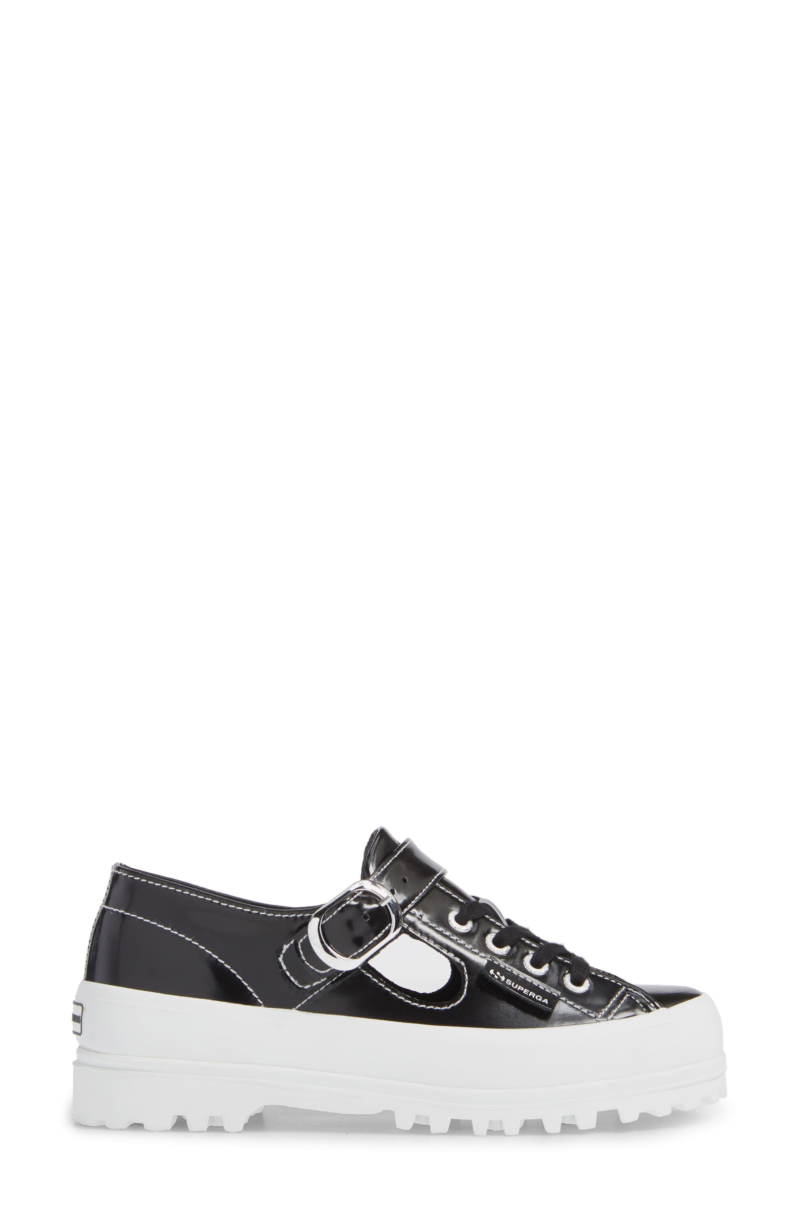 x Alexa Chung 2254 Alpinaleapatentw Platform Sneaker,                             Alternate thumbnail 3, color,                             BLACK