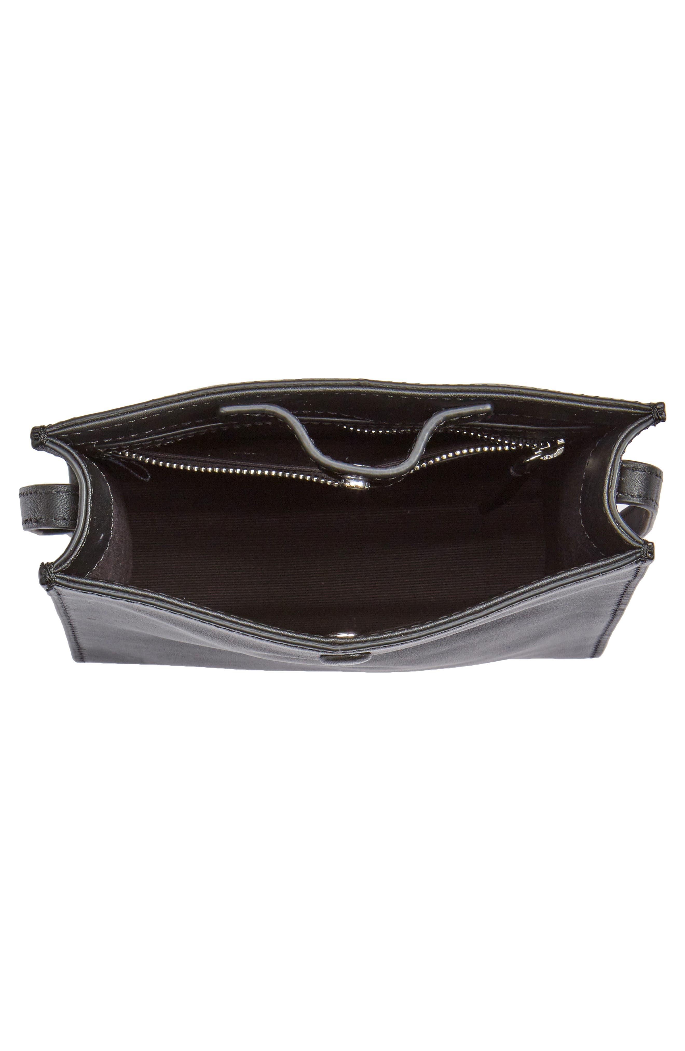 Camden Leather Crossbody Bag,                             Alternate thumbnail 4, color,                             001