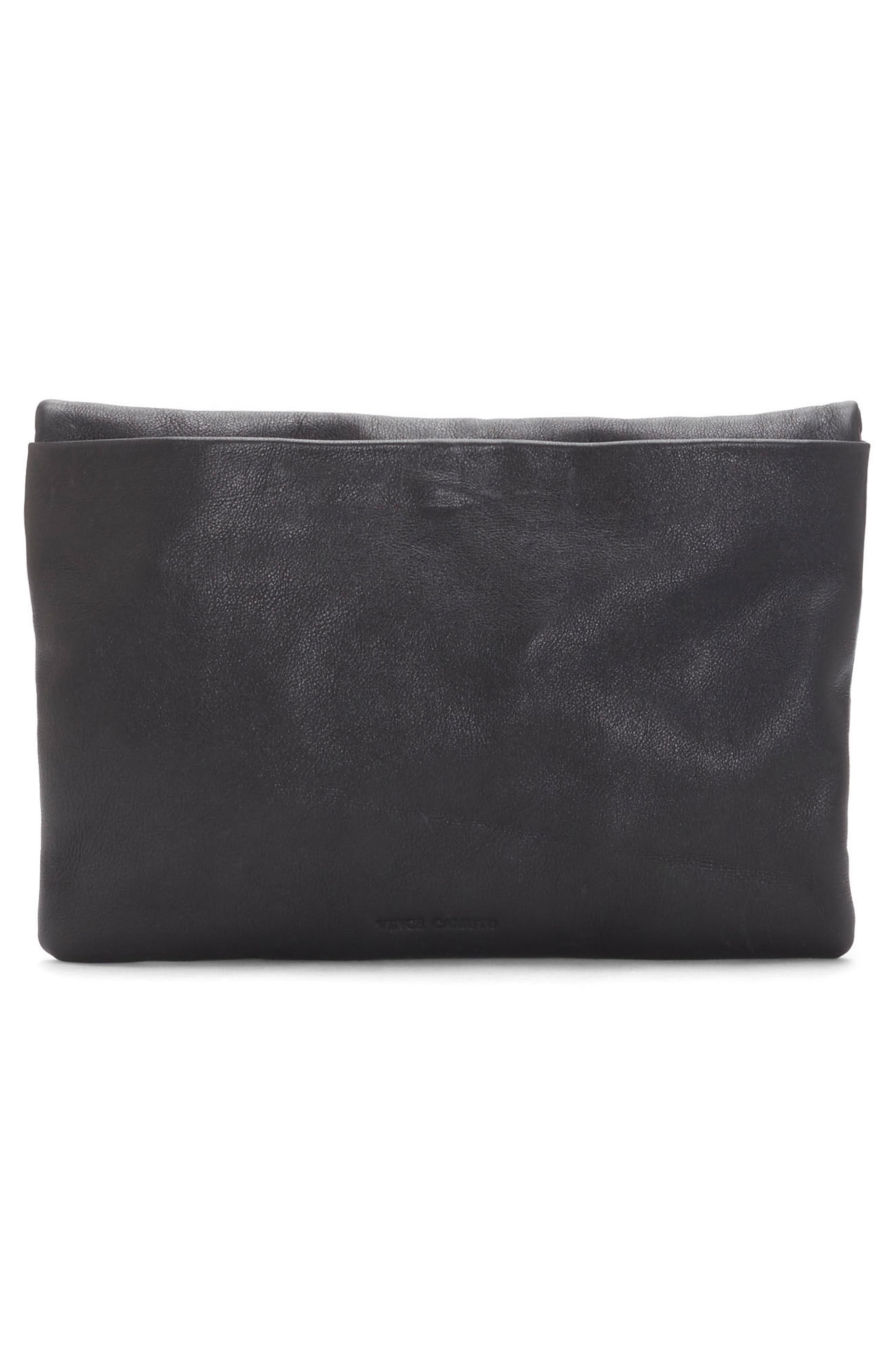 Luk Leather Foldover Clutch,                             Alternate thumbnail 2, color,