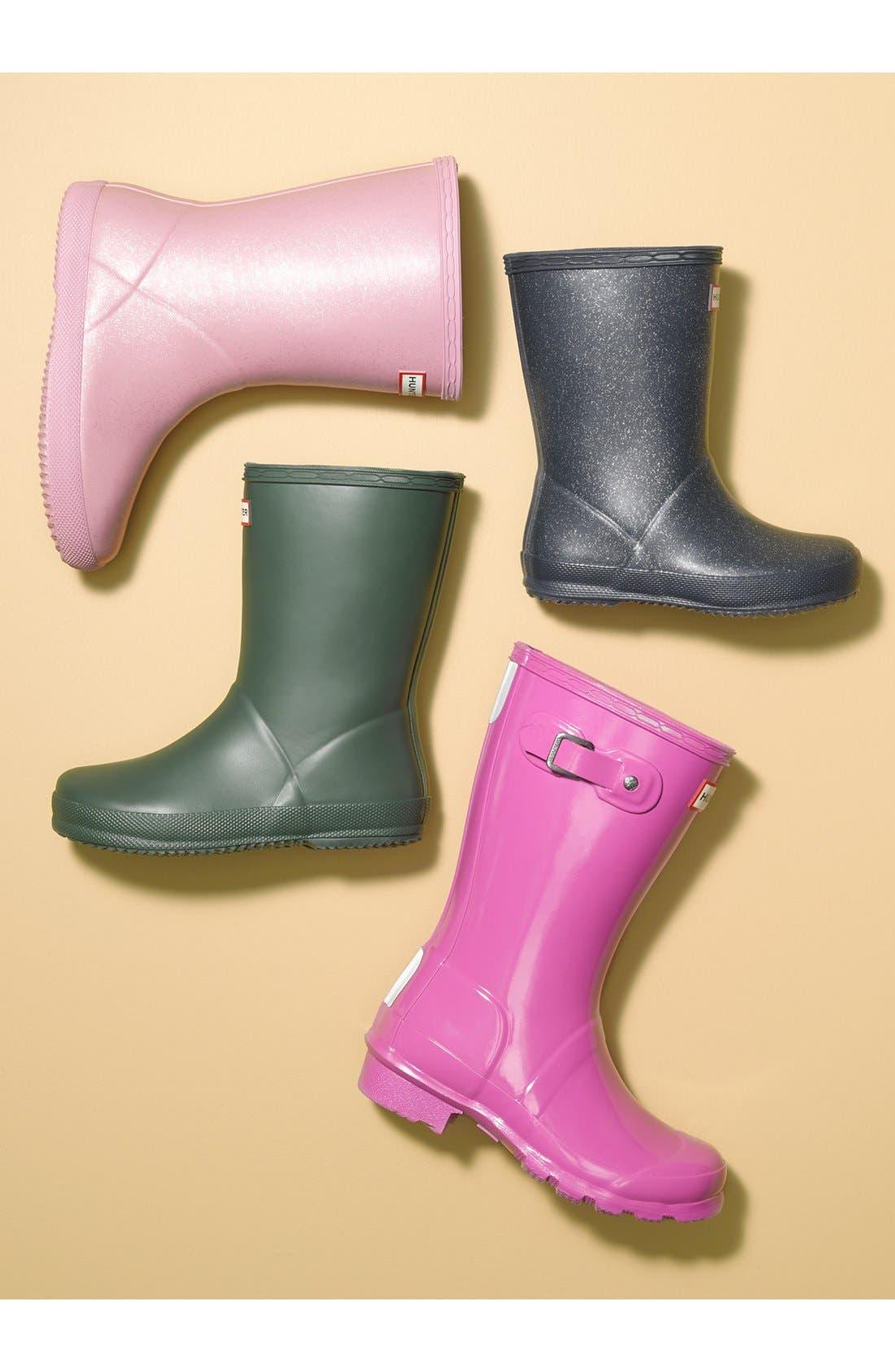 'First Classic' Glitter Rain Boot,                             Main thumbnail 1, color,                             440
