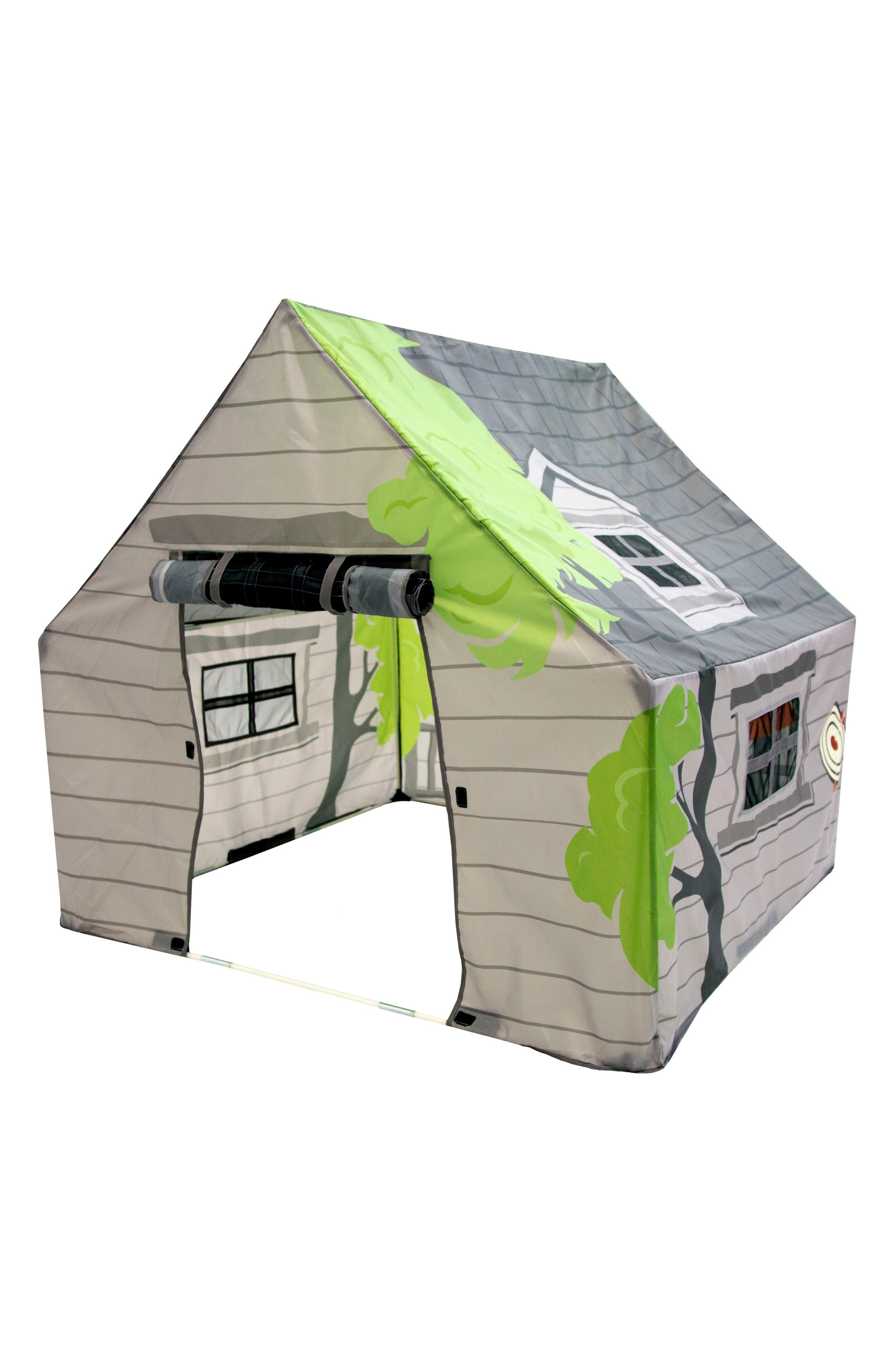 Treehouse Hideaway Playhouse Tent,                             Alternate thumbnail 5, color,                             GREEN