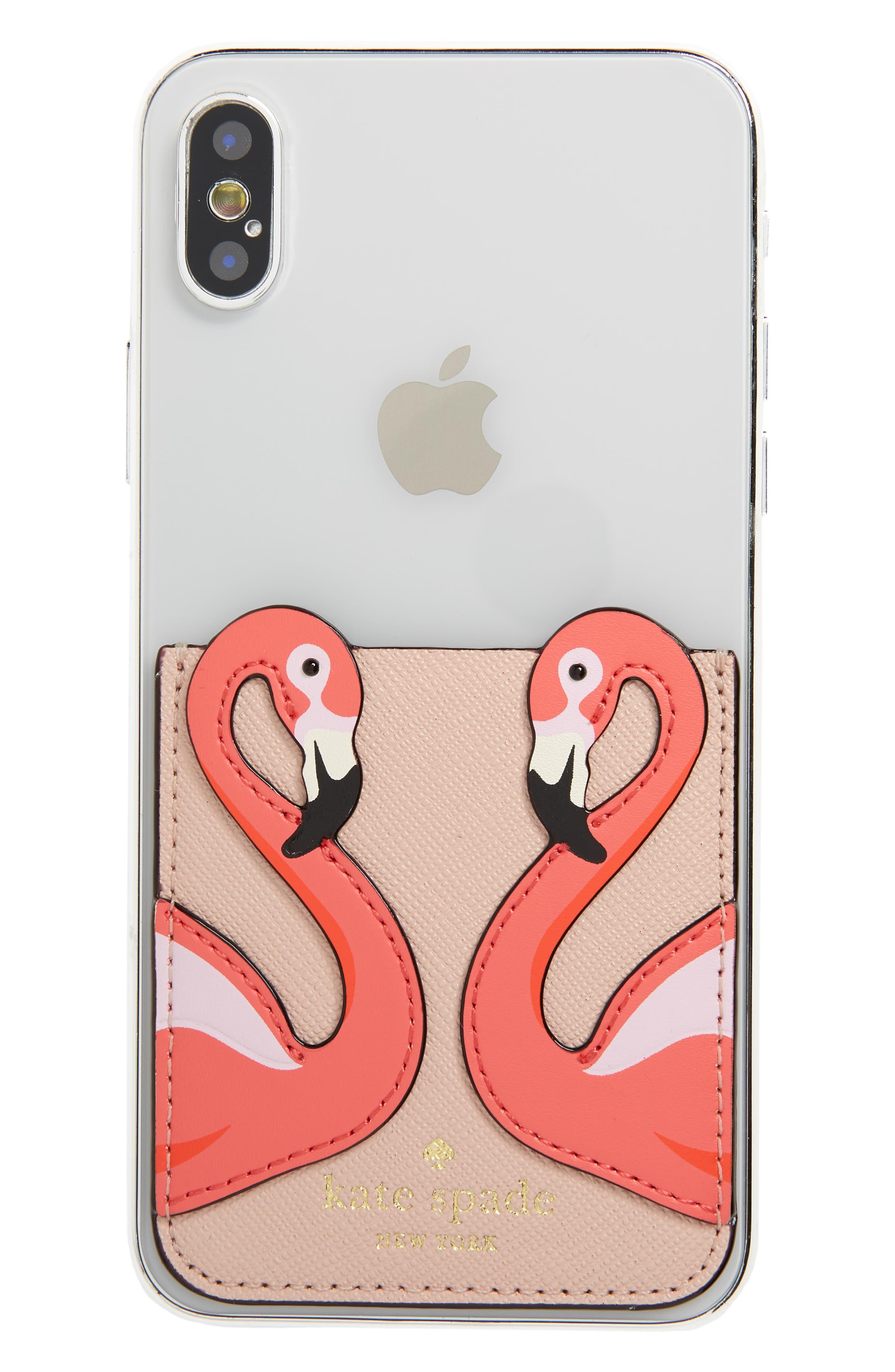 flamingo phone sticker pocket,                         Main,                         color,