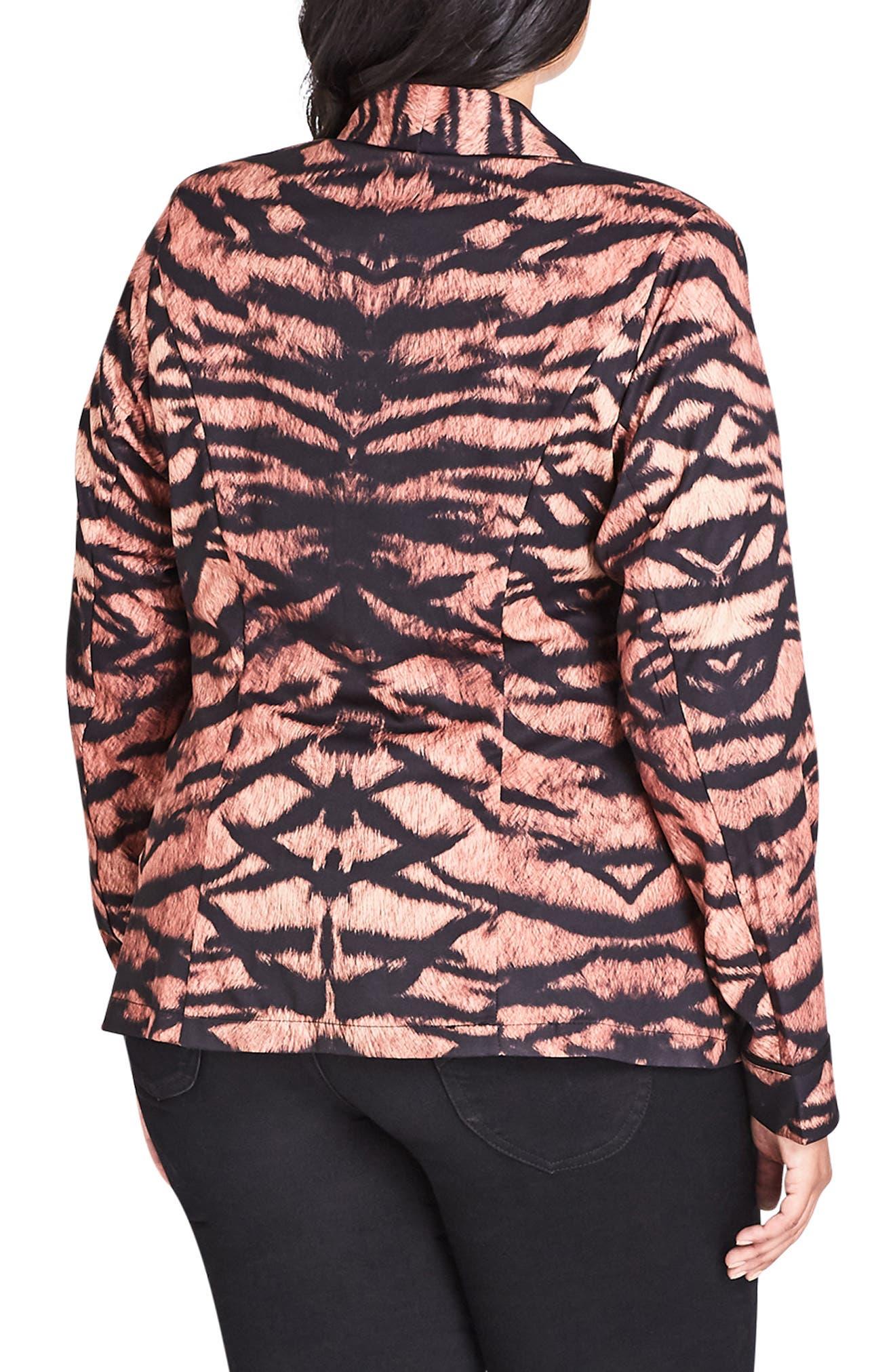 CITY CHIC,                             Tigress Blazer,                             Alternate thumbnail 2, color,                             TIGRESS