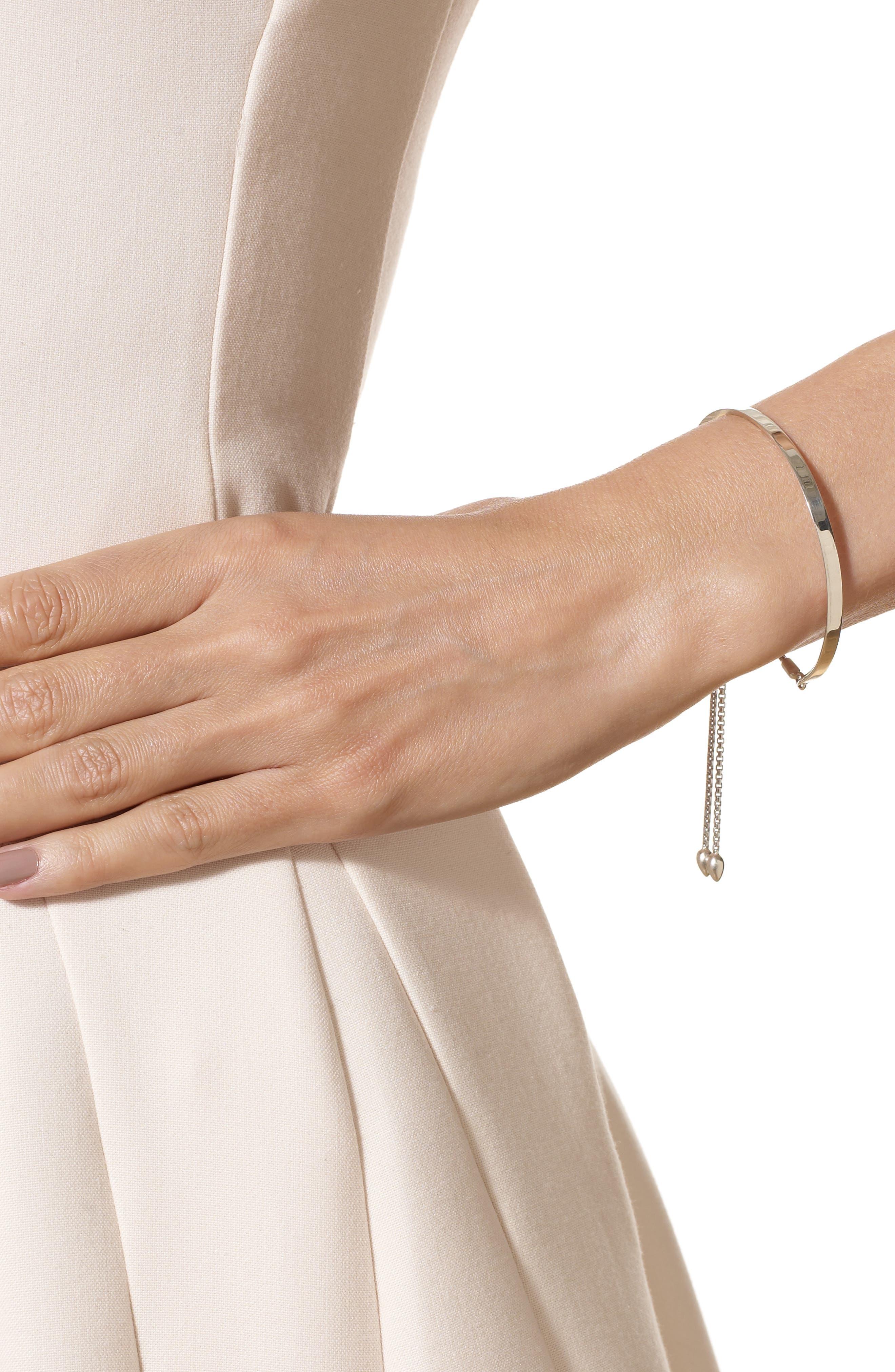 Engravable Fiji Diamond Toggle Bracelet,                             Alternate thumbnail 5, color,                             SILVER/ DIAMOND