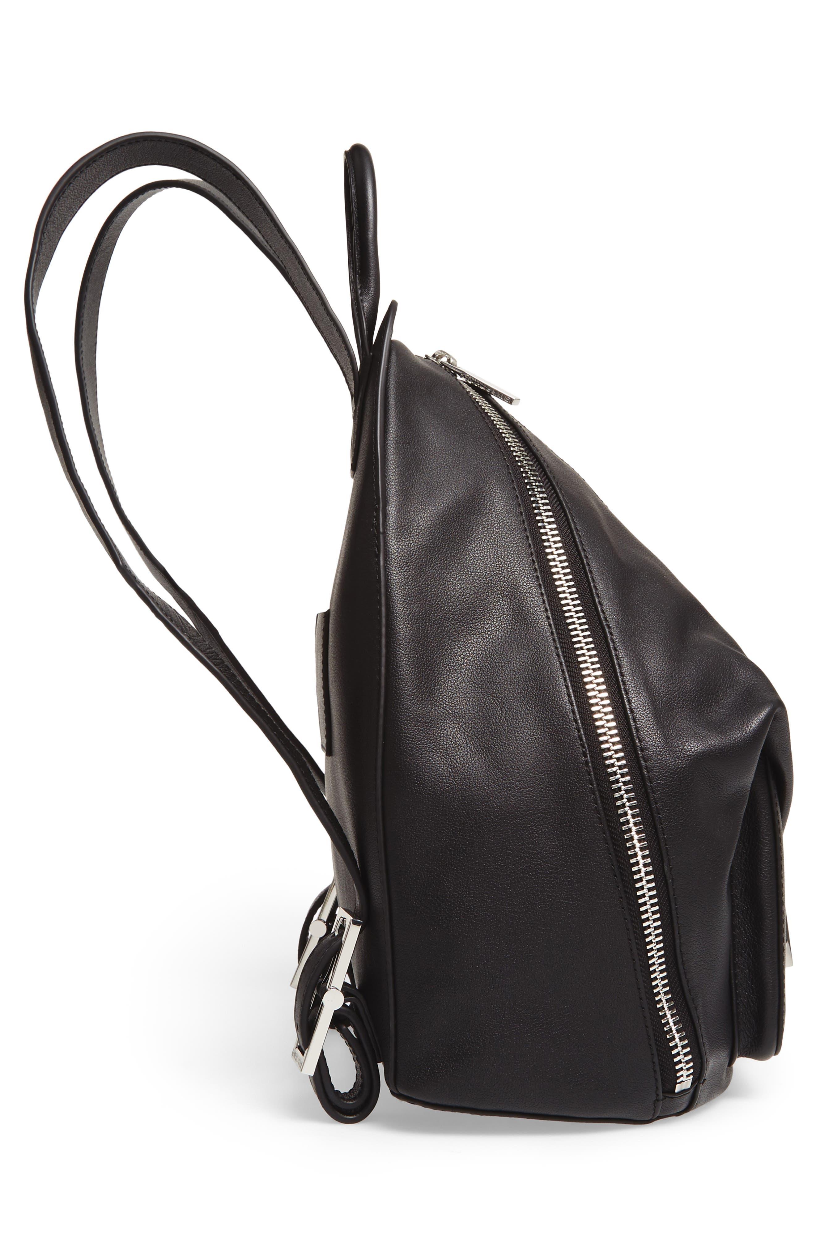 Koenji Leather Backpack,                             Alternate thumbnail 5, color,                             001