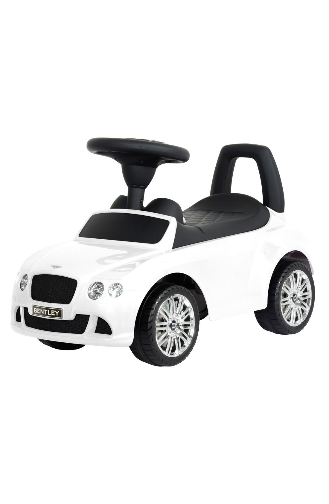 'Bentley' Ride-On Push Car,                         Main,                         color, WHITE