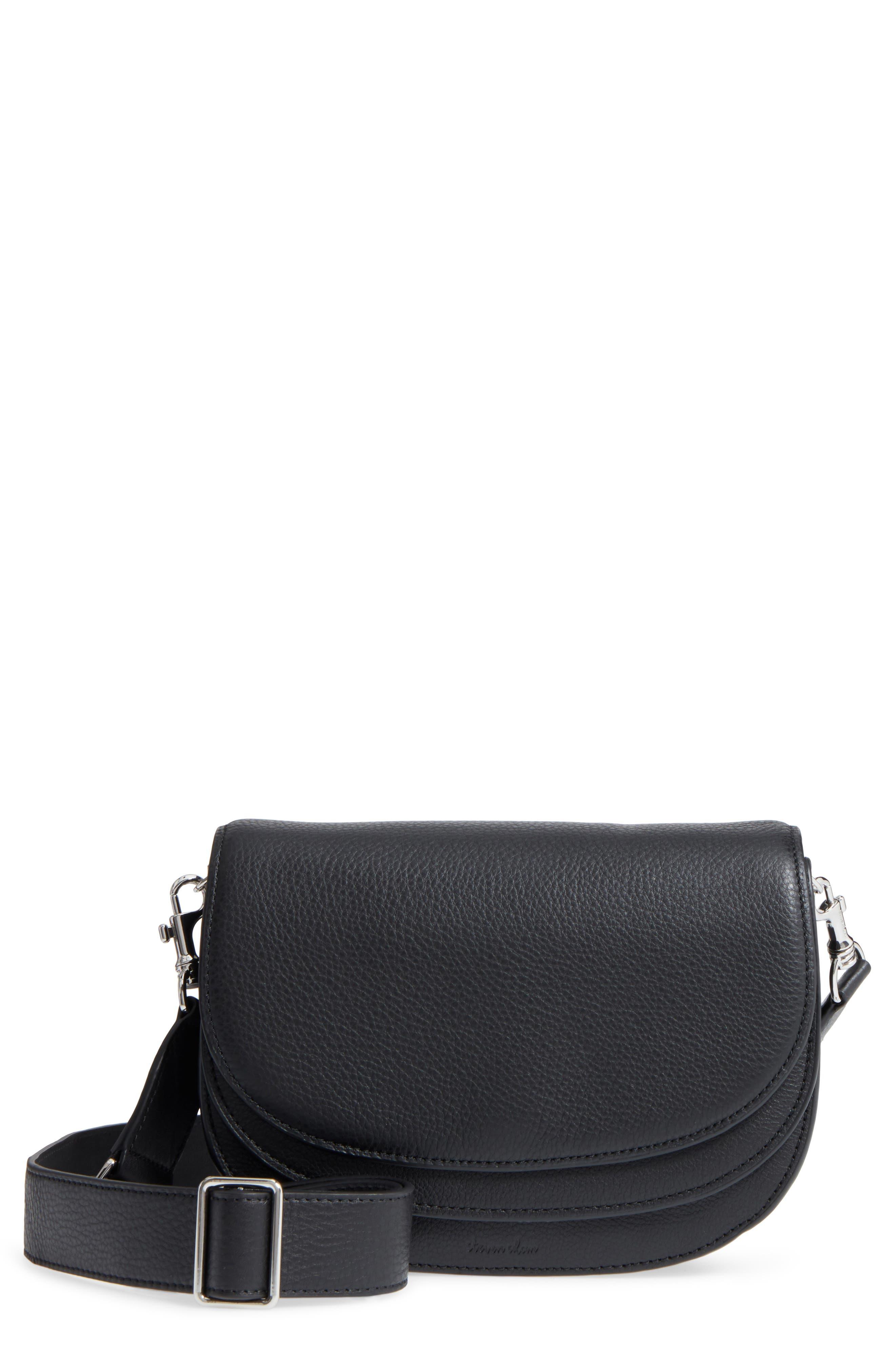 Landon Leather Crossbody Saddle Bag,                         Main,                         color,
