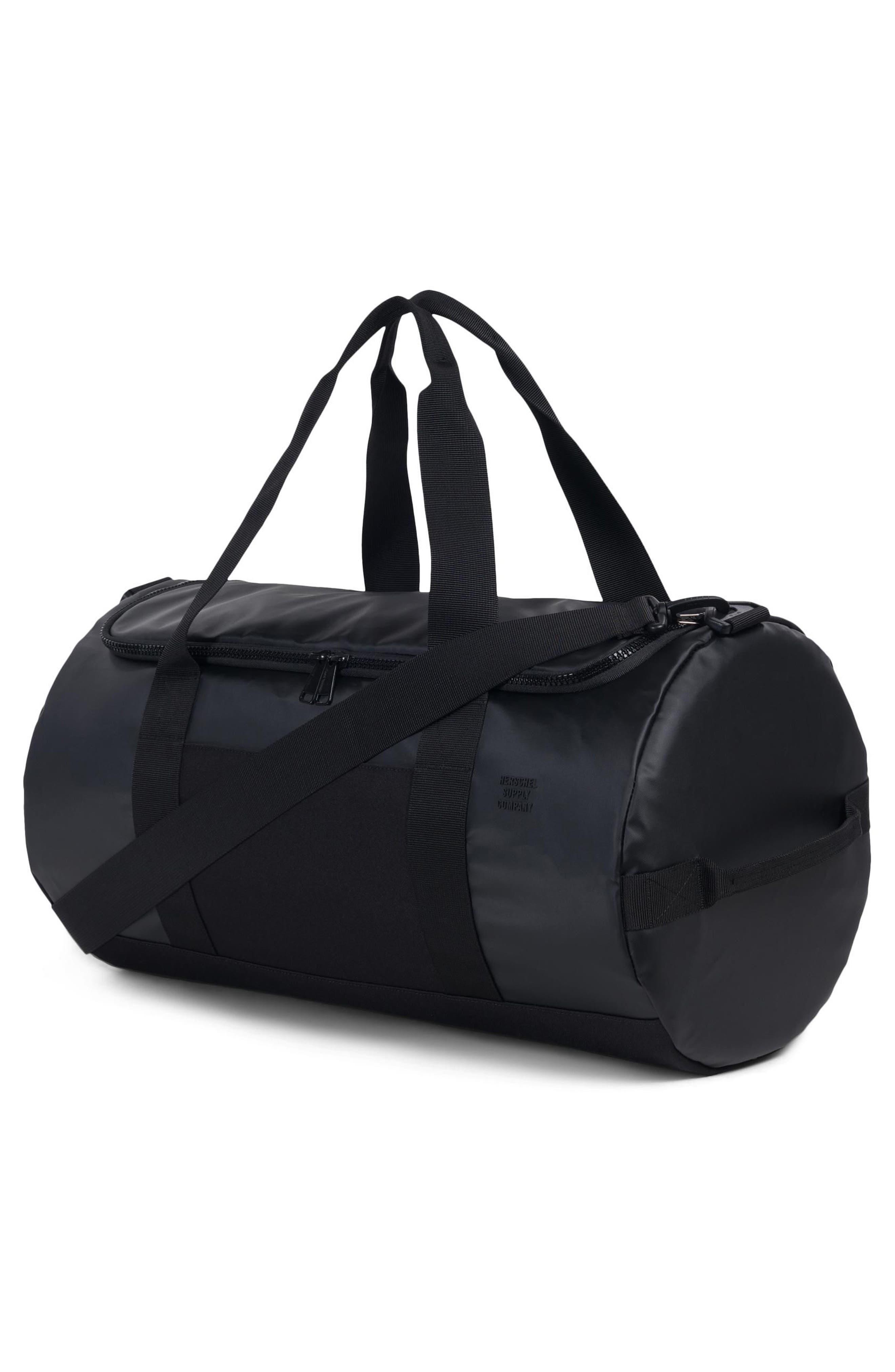 Sutton Polycoat Studio Duffel Bag,                             Alternate thumbnail 2, color,                             BLACK