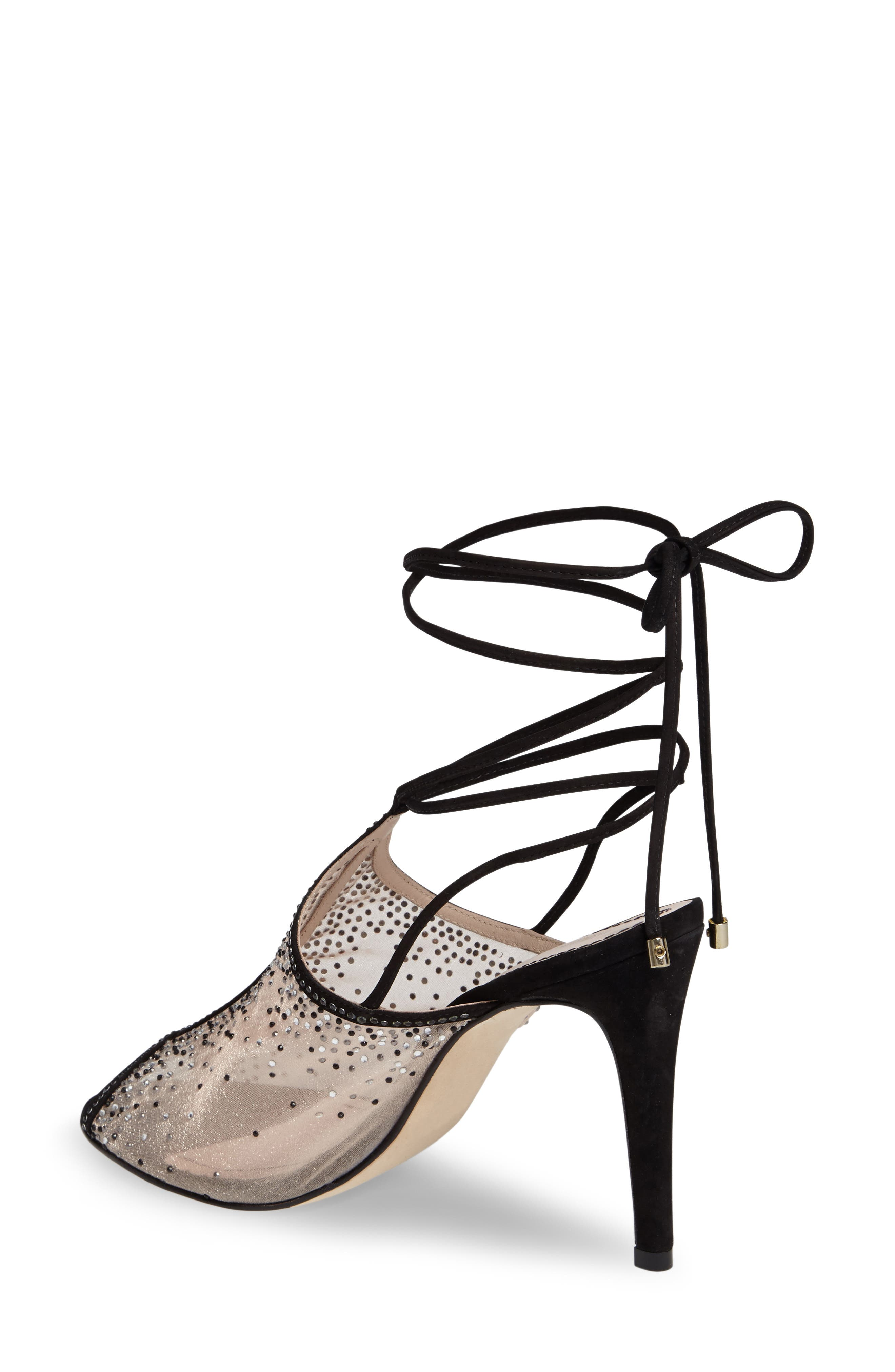 Margeaux Embellished Wraparound Sandal,                             Alternate thumbnail 2, color,                             002