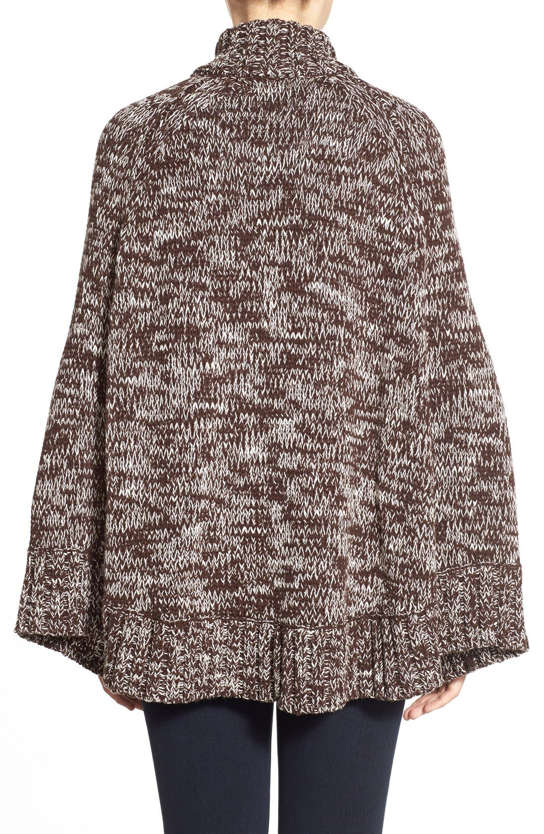 Toggle Front Sweater Knit Cape,                             Alternate thumbnail 2, color,                             201