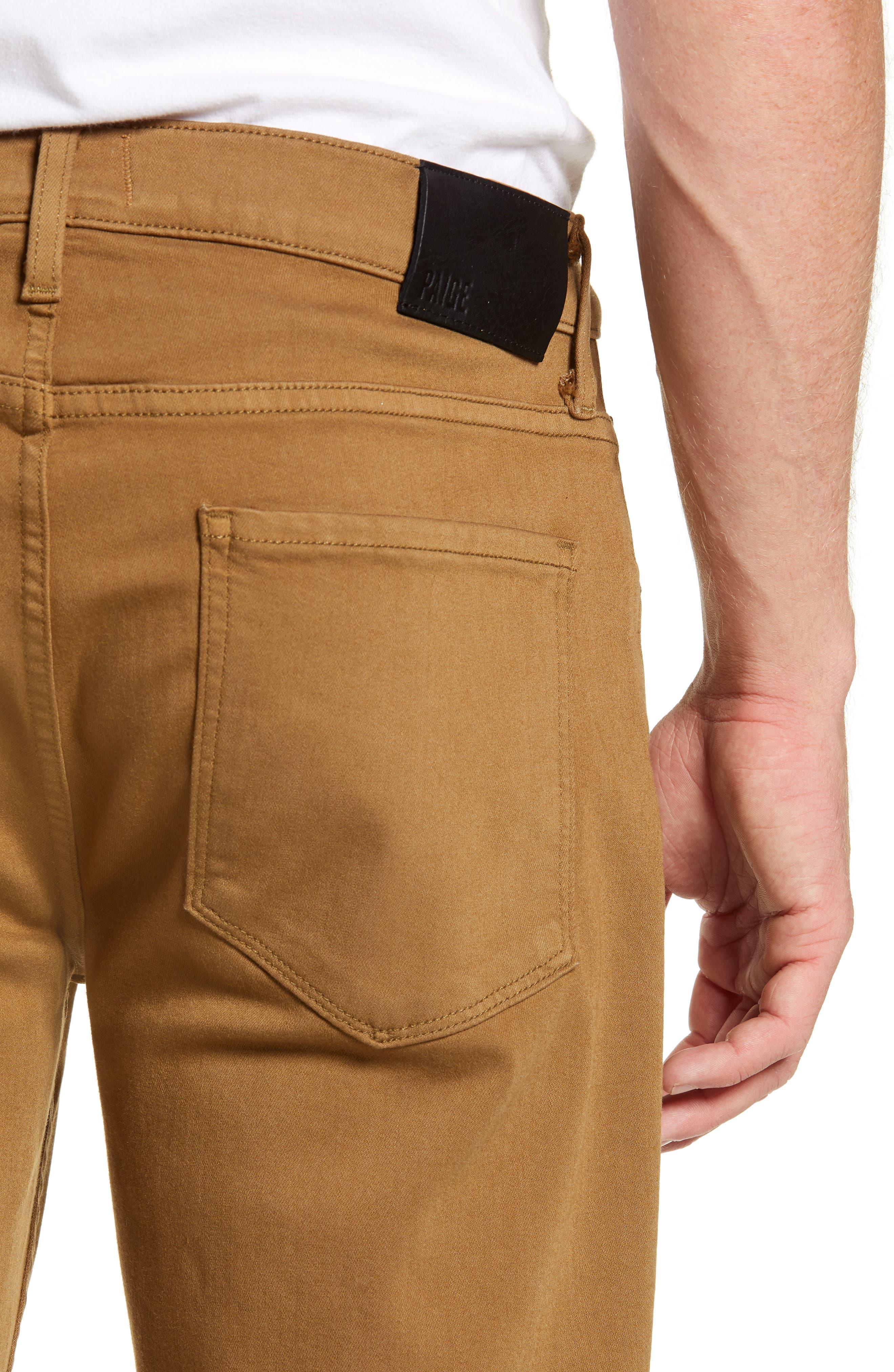 Transcend - Lennox Slim Fit Jeans,                             Alternate thumbnail 4, color,                             LAUREL TAN