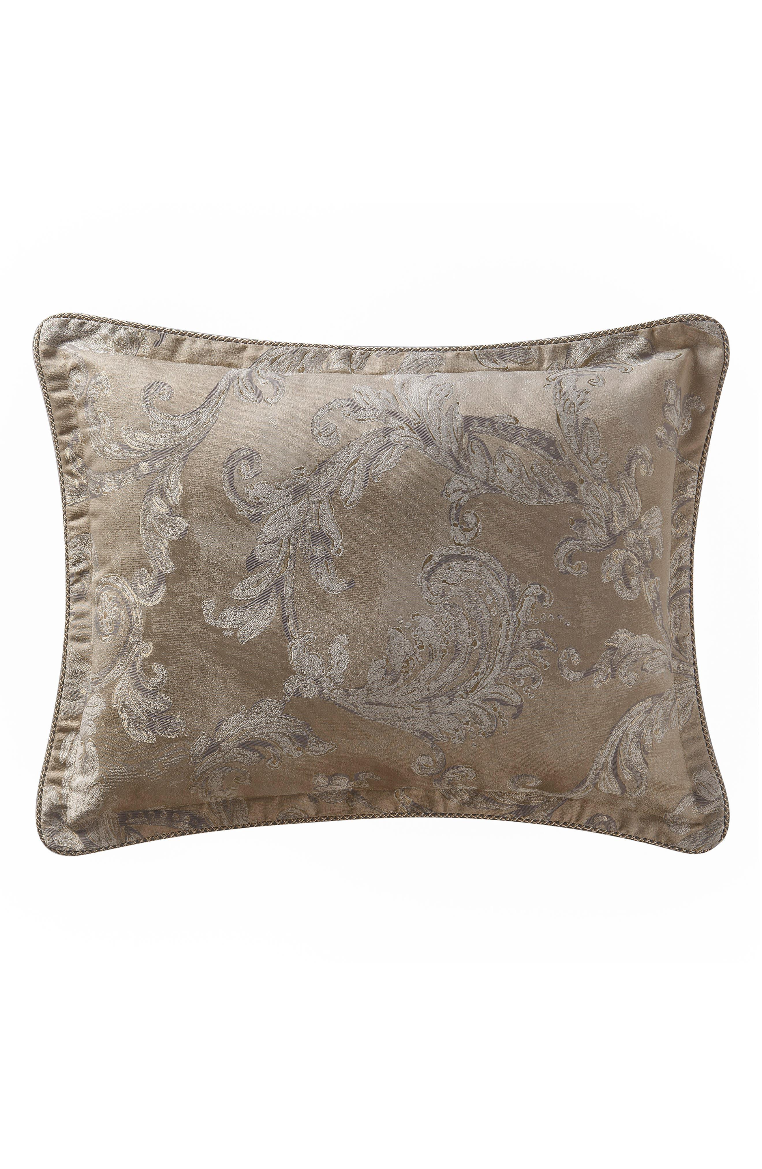 Chantelle Reversible Comforter, Sham & Bed Skirt Set,                             Alternate thumbnail 3, color,                             TAUPE