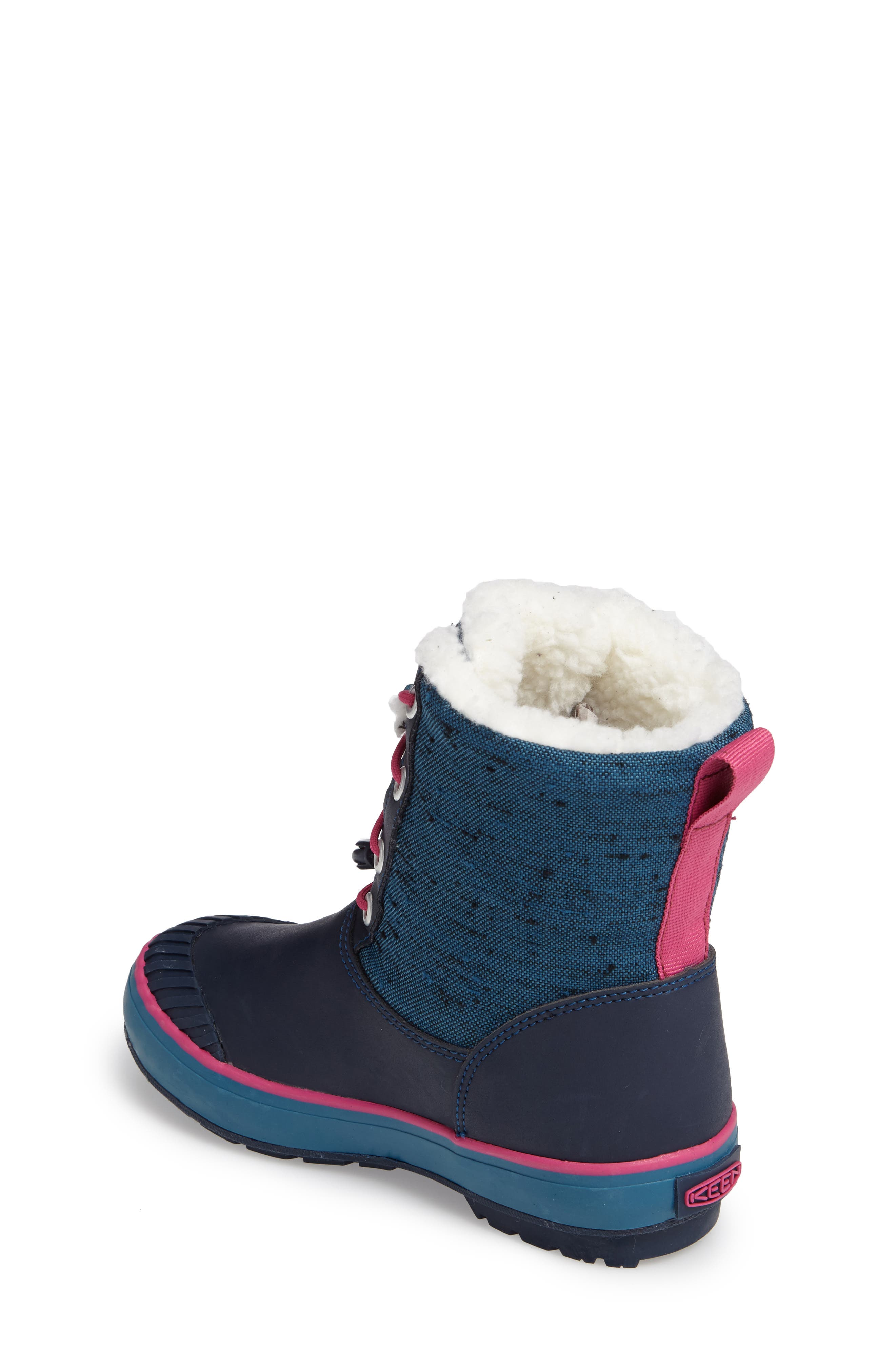 Elsa Waterproof Faux Fur Lined Snow Boot,                             Alternate thumbnail 12, color,