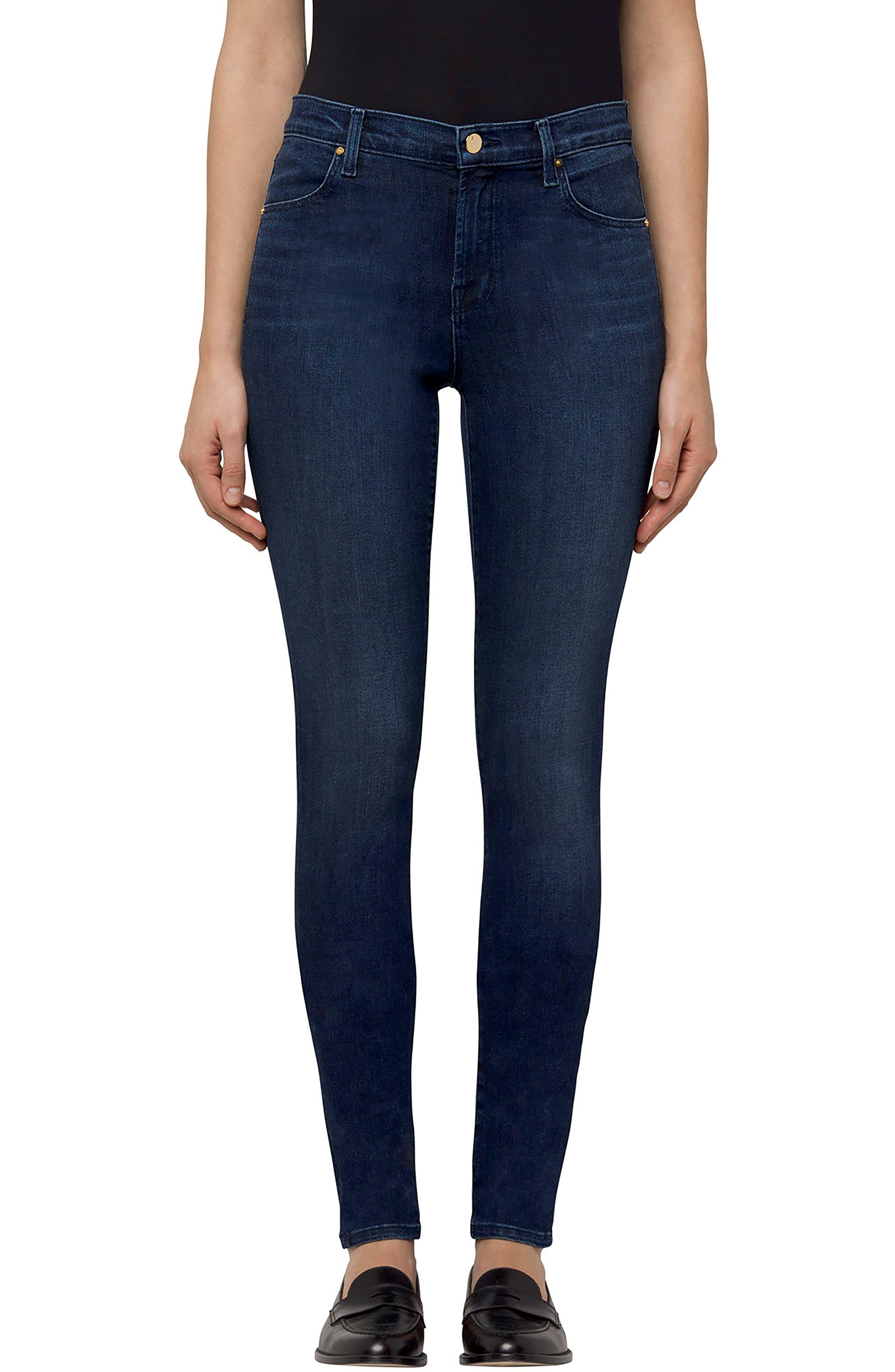 Maria High Waist Super Skinny Jeans, Main, color, 413