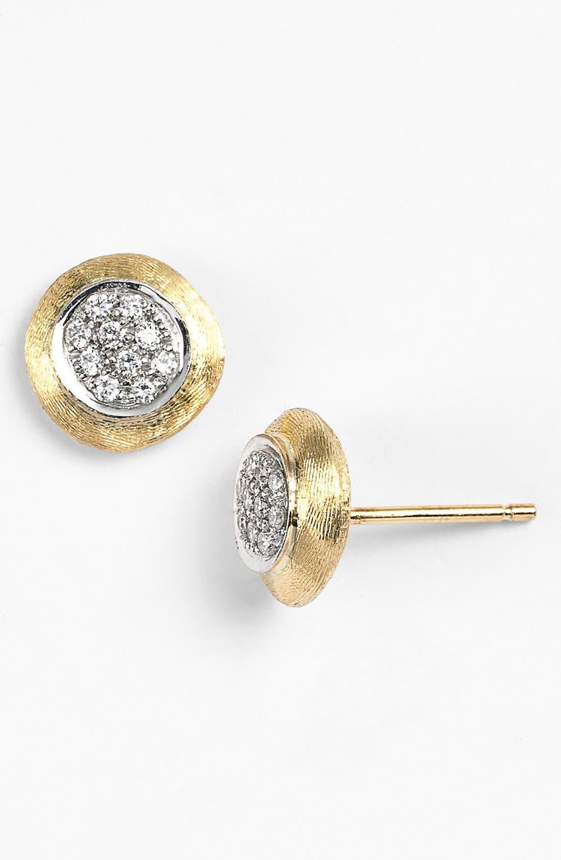 'Delicate' Diamond Stud Earrings,                             Main thumbnail 1, color,                             YELLOW GOLD