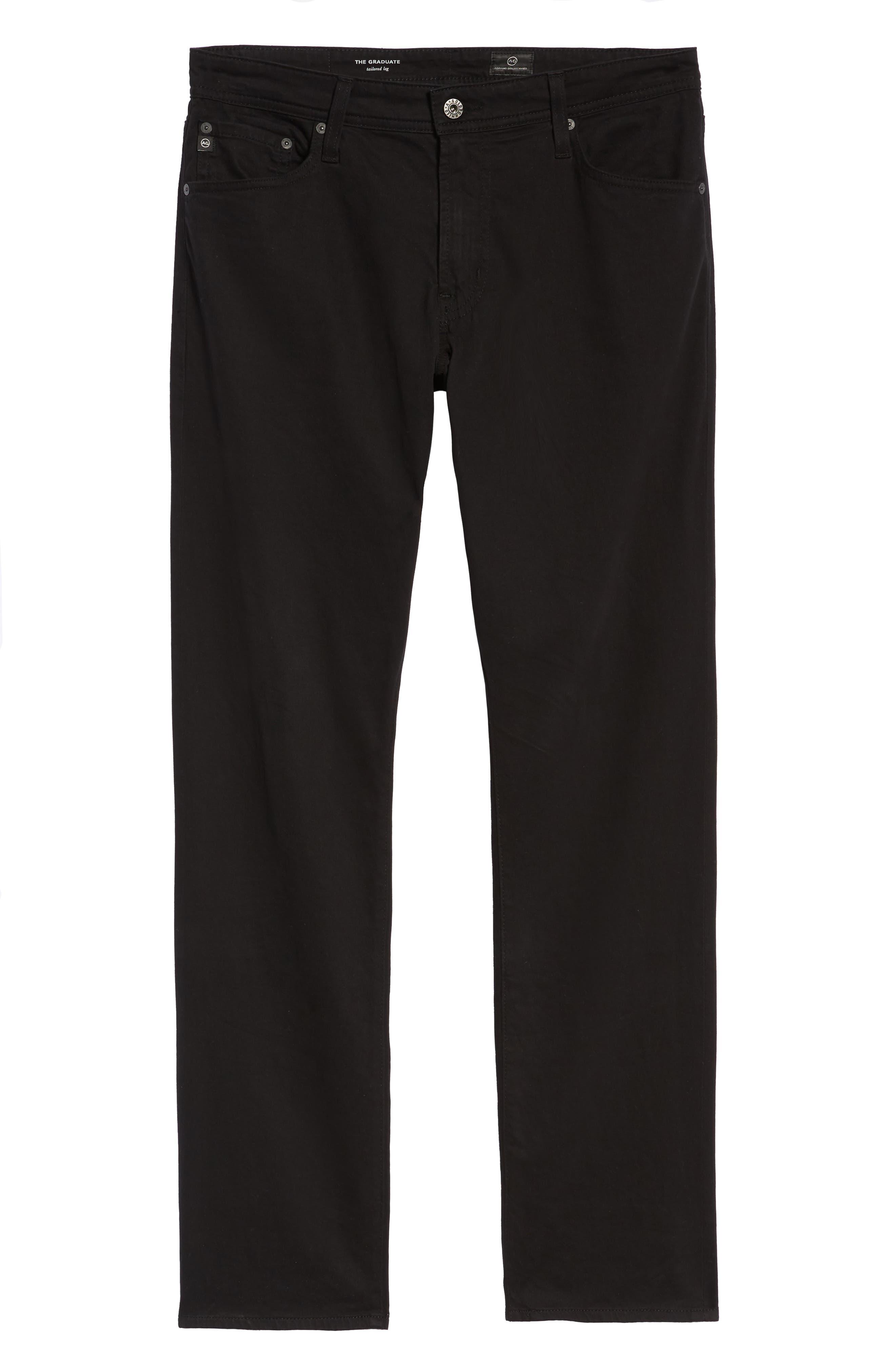 Graduate SUD Slim Straight Leg Pants,                             Alternate thumbnail 7, color,                             BLACK