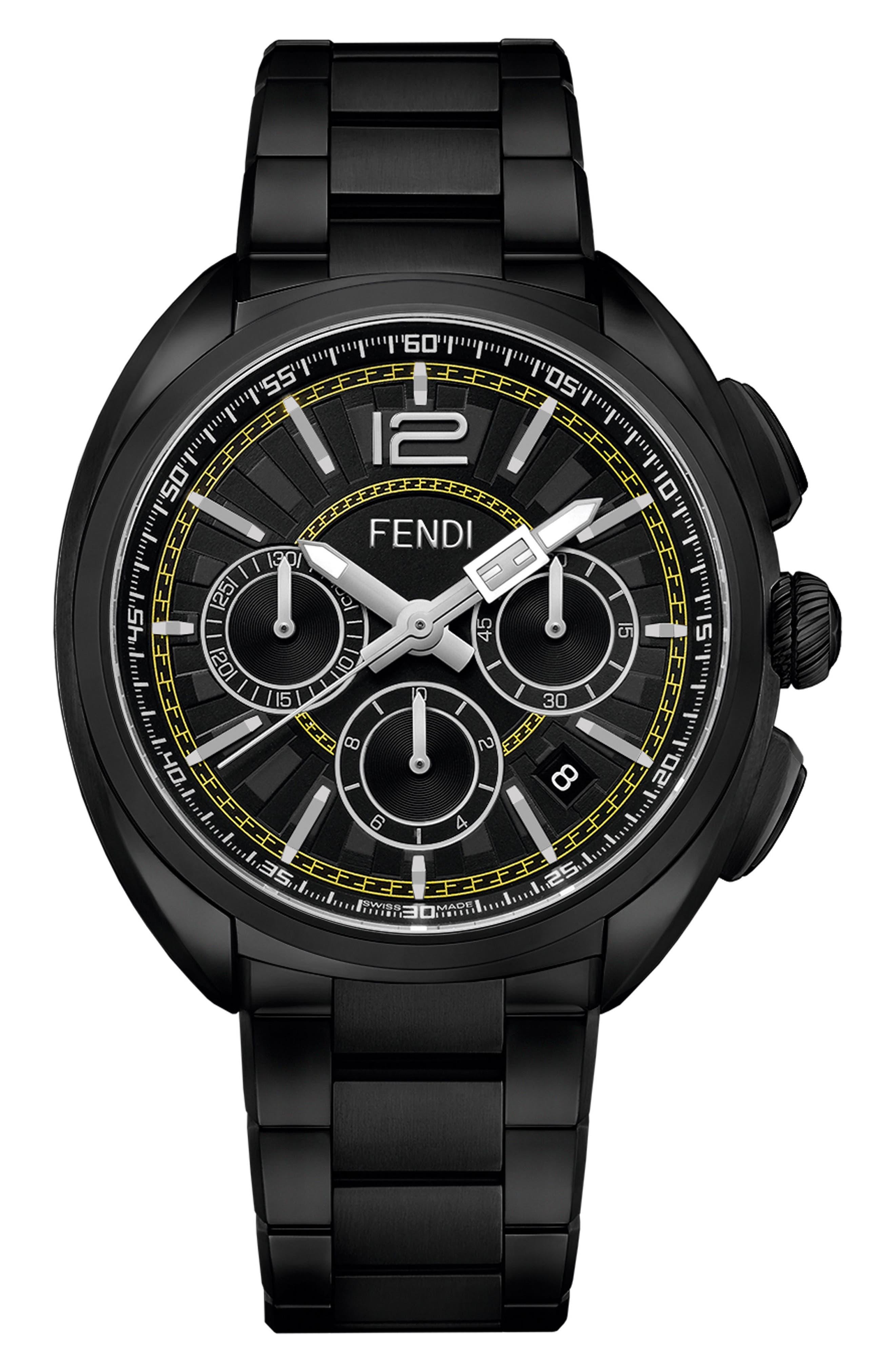 Momento Chronograph Bracelet Watch, 46mm,                             Main thumbnail 1, color,                             BLACK