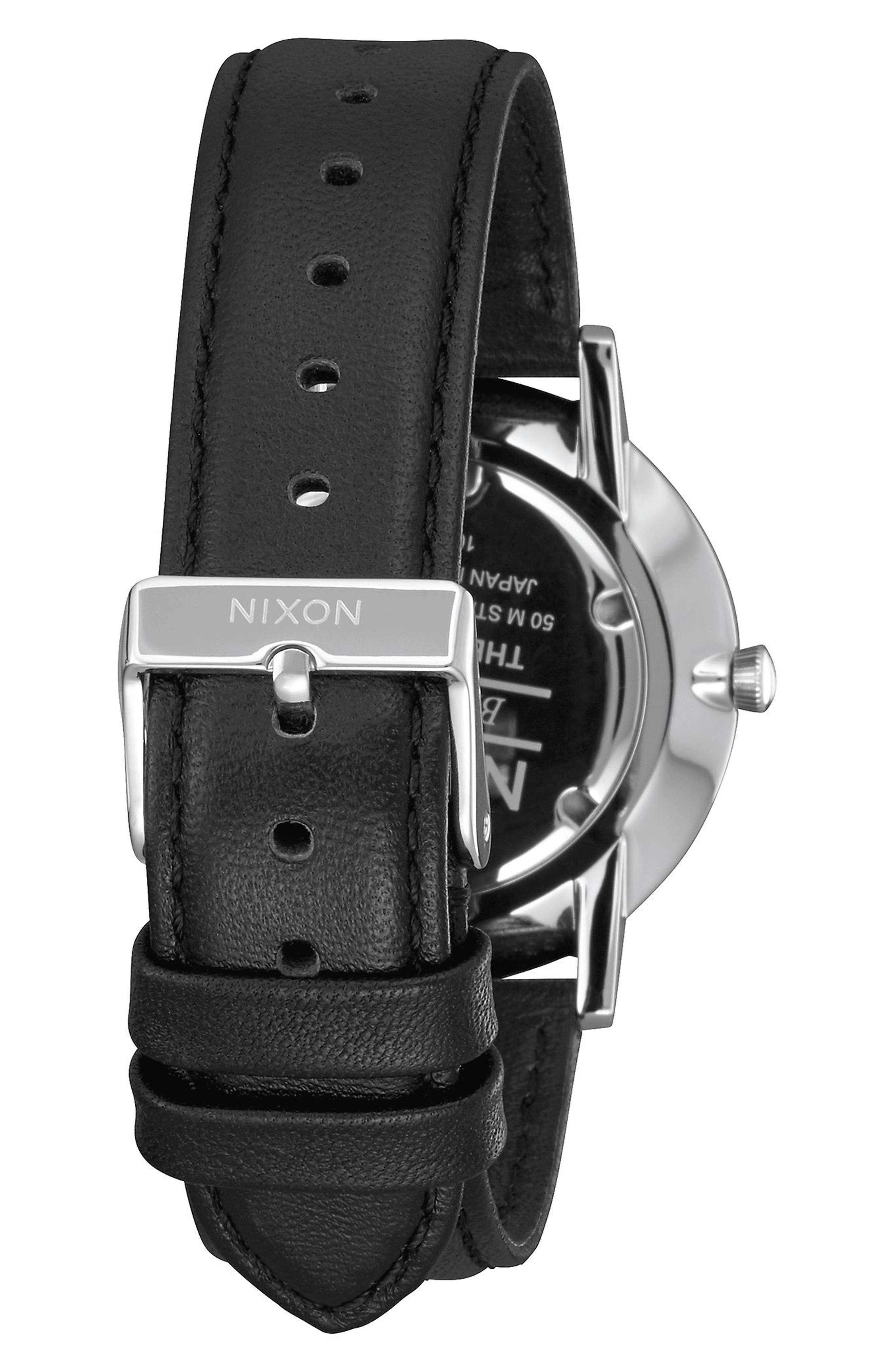 Porter Round Leather Strap Watch, 40mm,                             Alternate thumbnail 14, color,