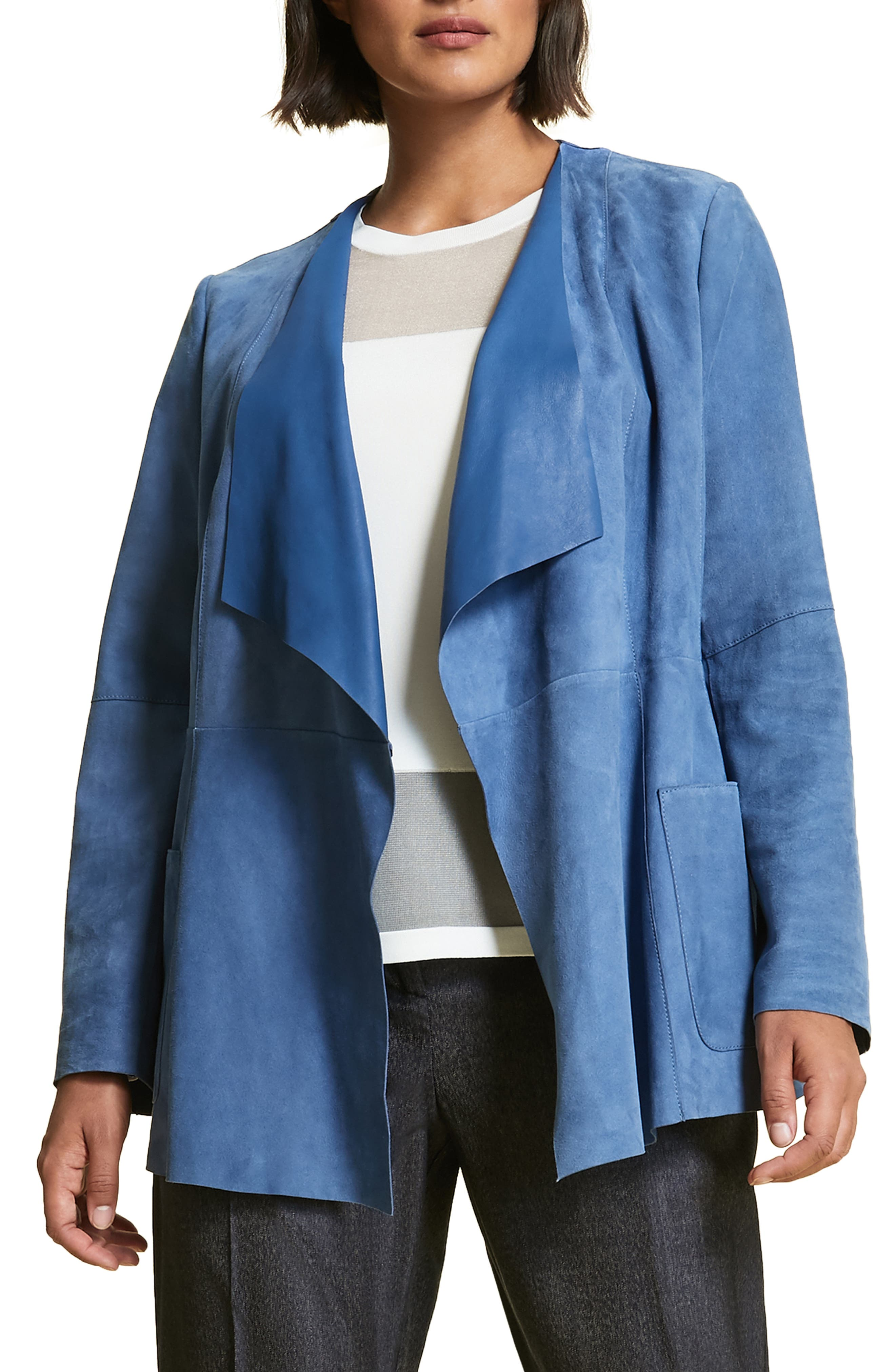 plus size women's marina rinaldi etere suede jacket