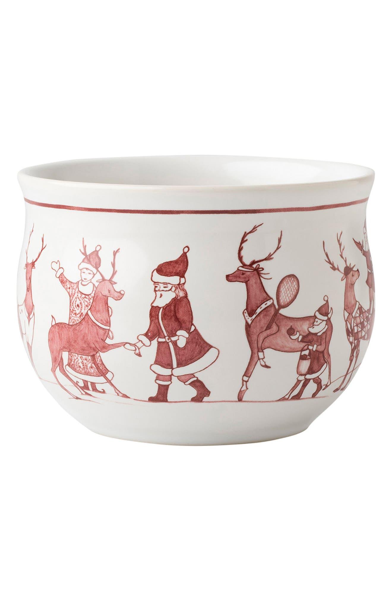 Reindeer Games Ceramic Comfort Bowl,                             Main thumbnail 1, color,                             100