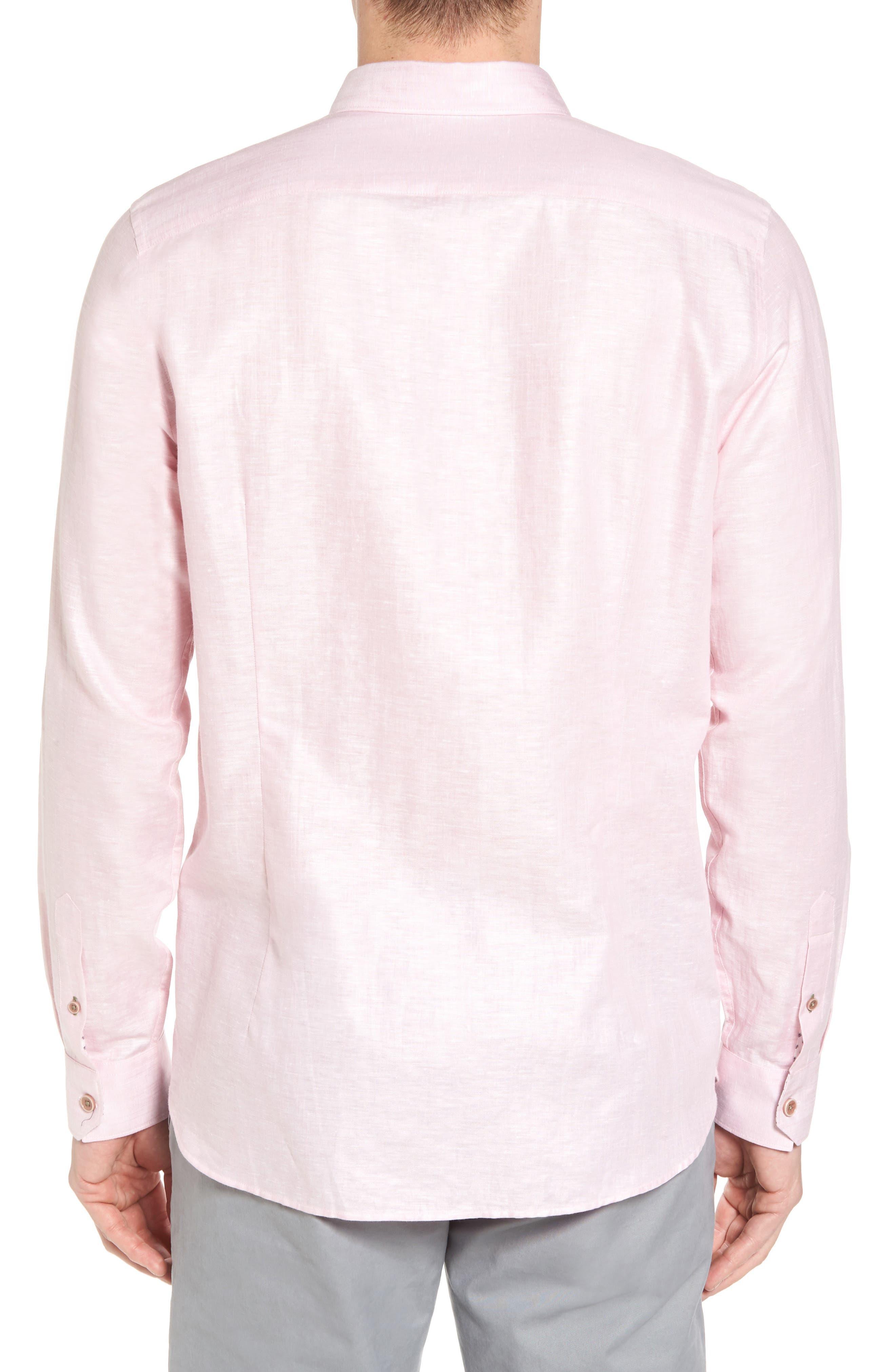 Linlins Herringbone Cotton & Linen Sport Shirt,                             Alternate thumbnail 10, color,