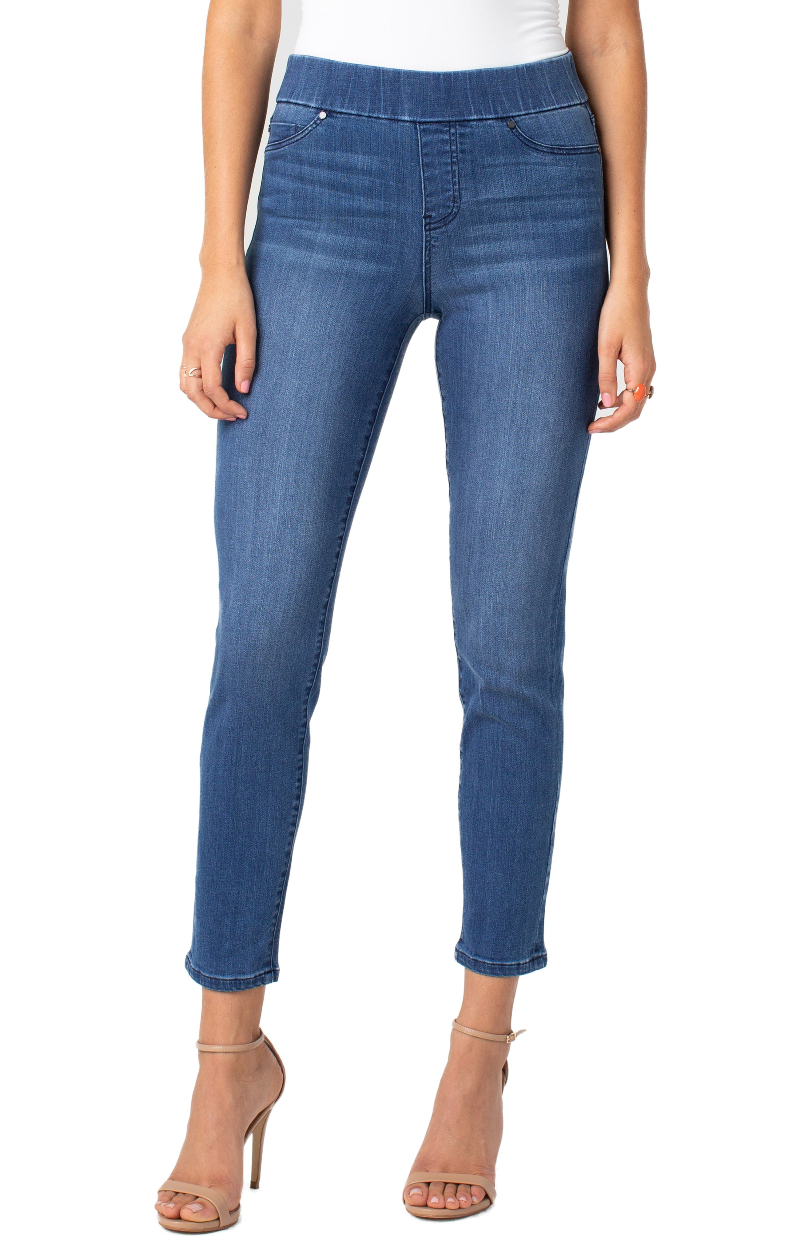 Jeans Company Meridith Pull-On Slim Ankle Jeans,                         Main,                         color, HARLOW