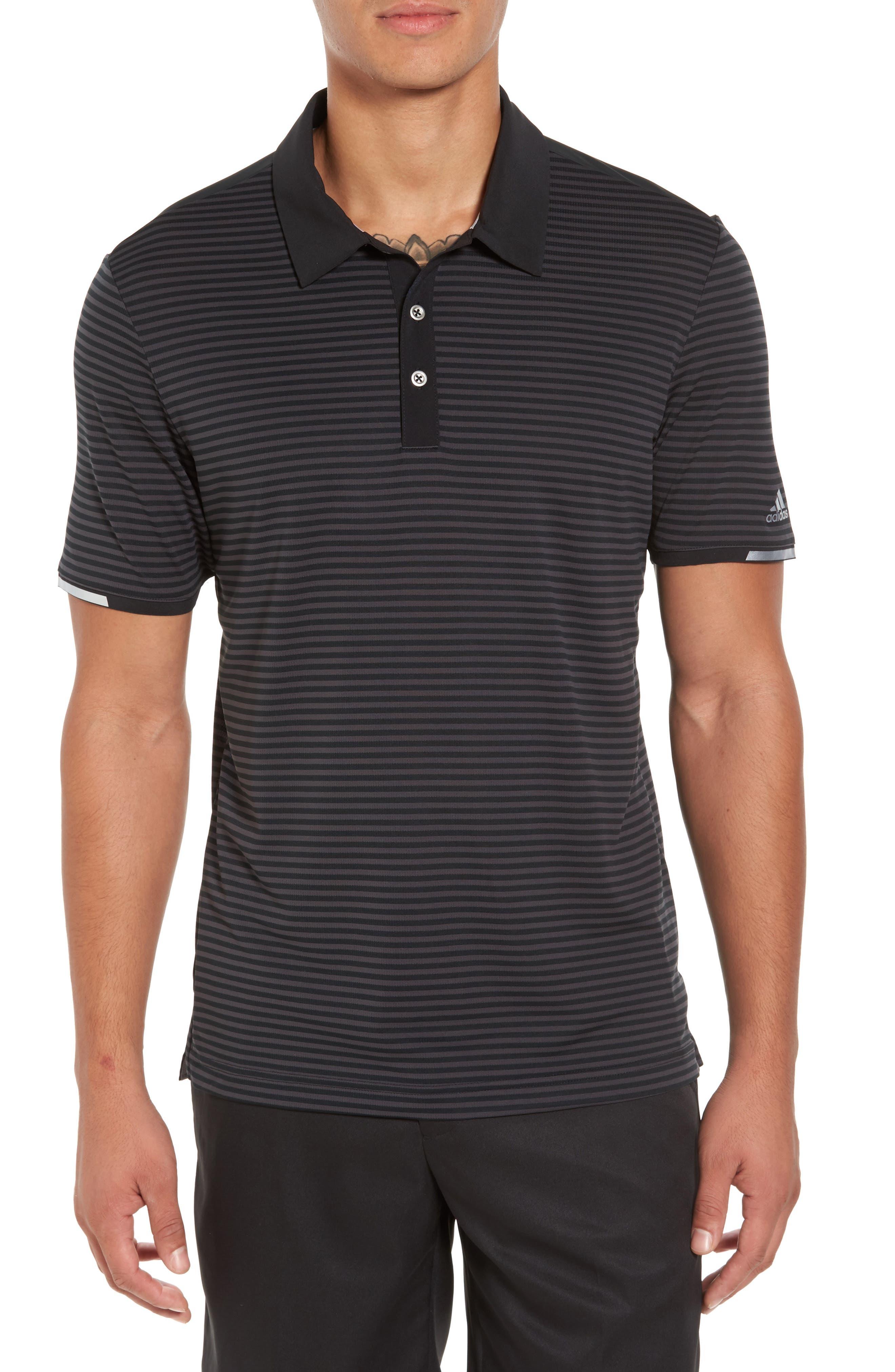 Climachill<sup>®</sup> Stripe Golf Polo,                             Main thumbnail 1, color,                             001