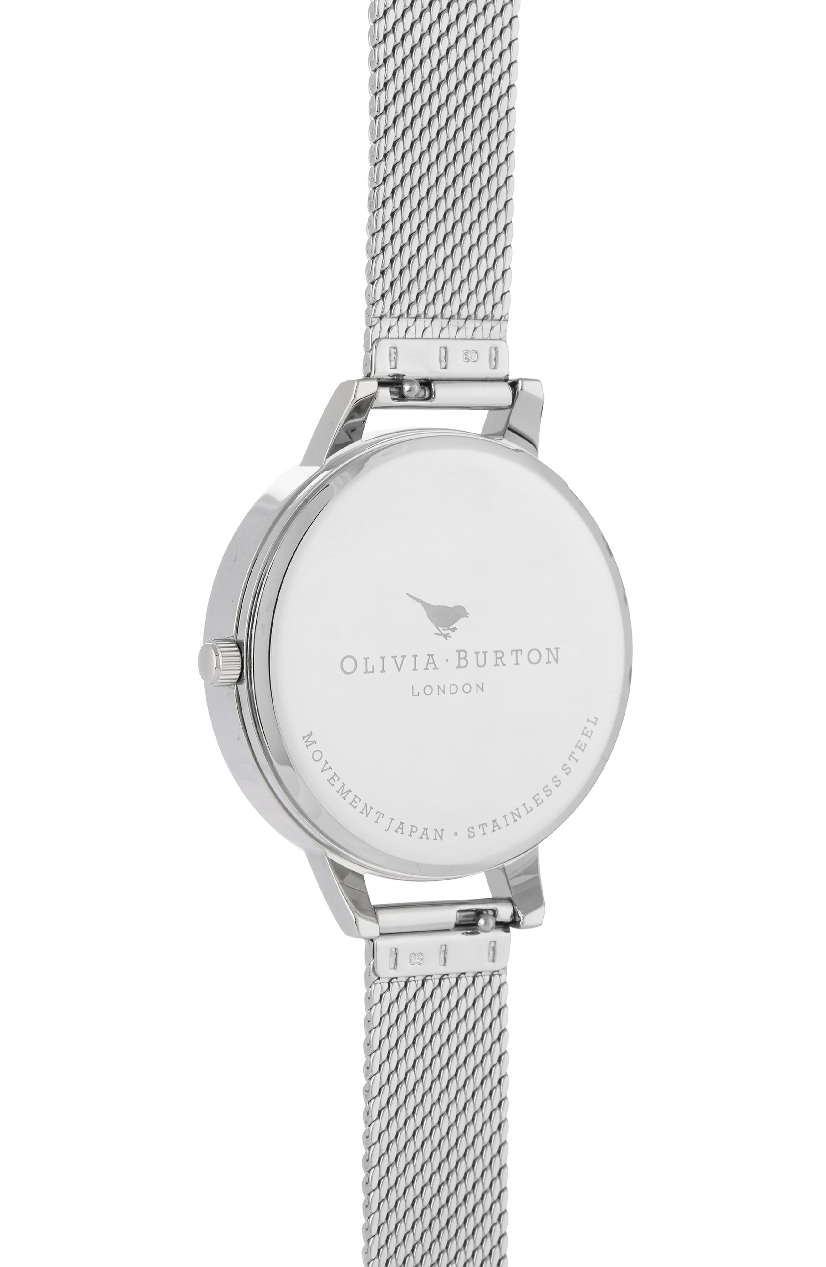 Celestial Mesh Strap Watch, 34mm,                             Alternate thumbnail 2, color,                             SILVER