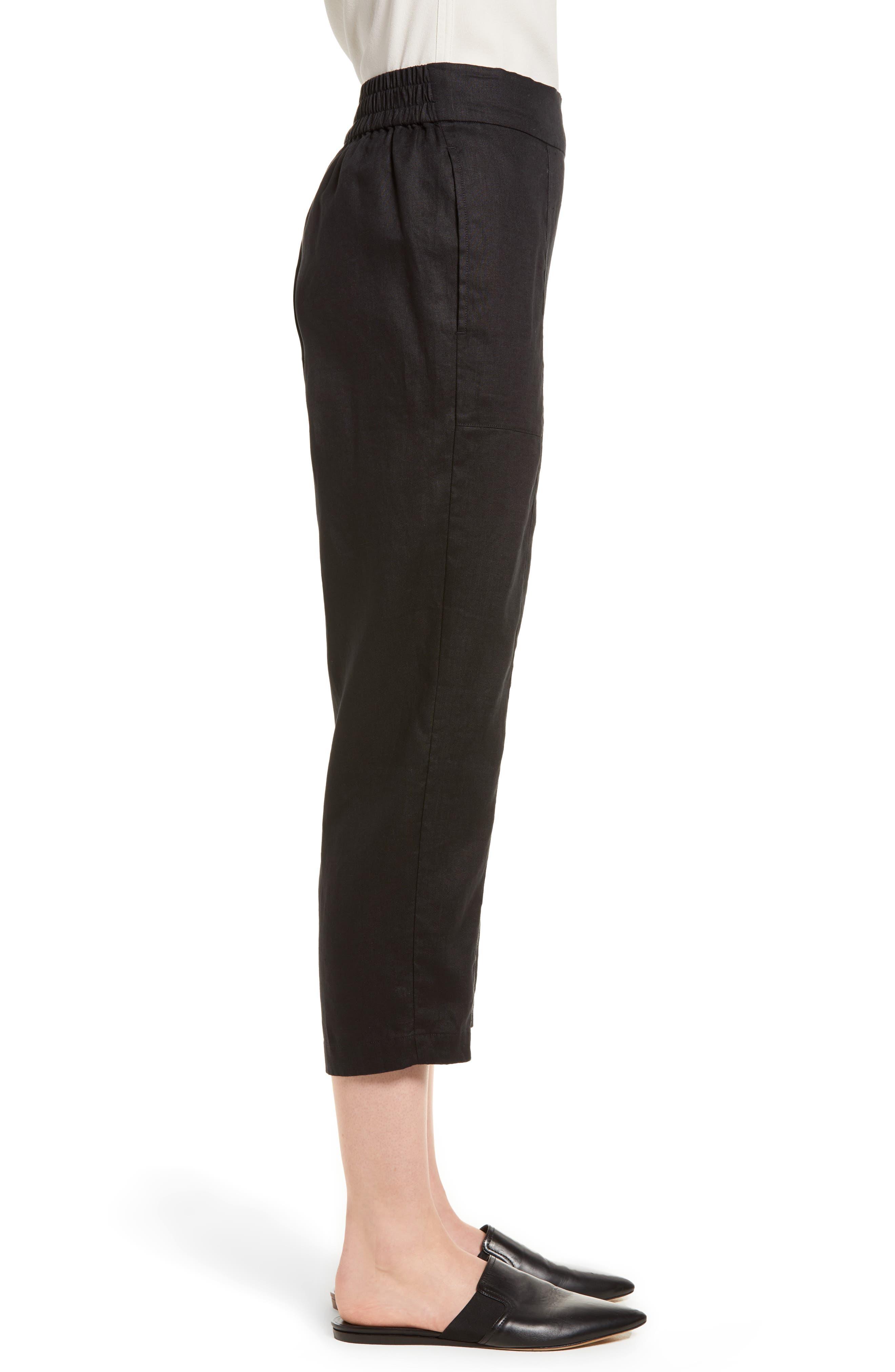 Organic Linen Crop Pants,                             Alternate thumbnail 10, color,