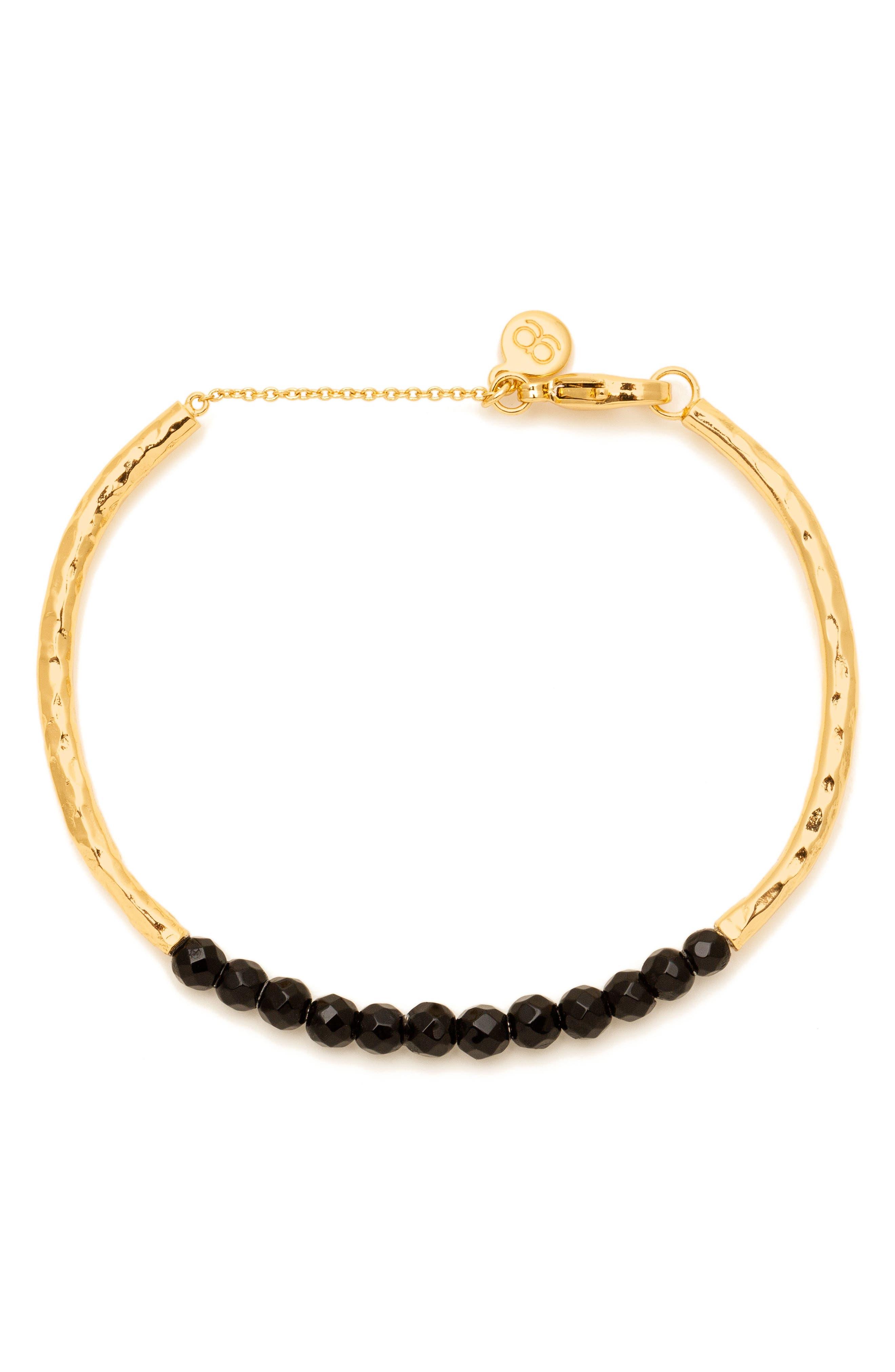 Power Stone Semiprecious Beaded Bracelet,                             Main thumbnail 1, color,                             001