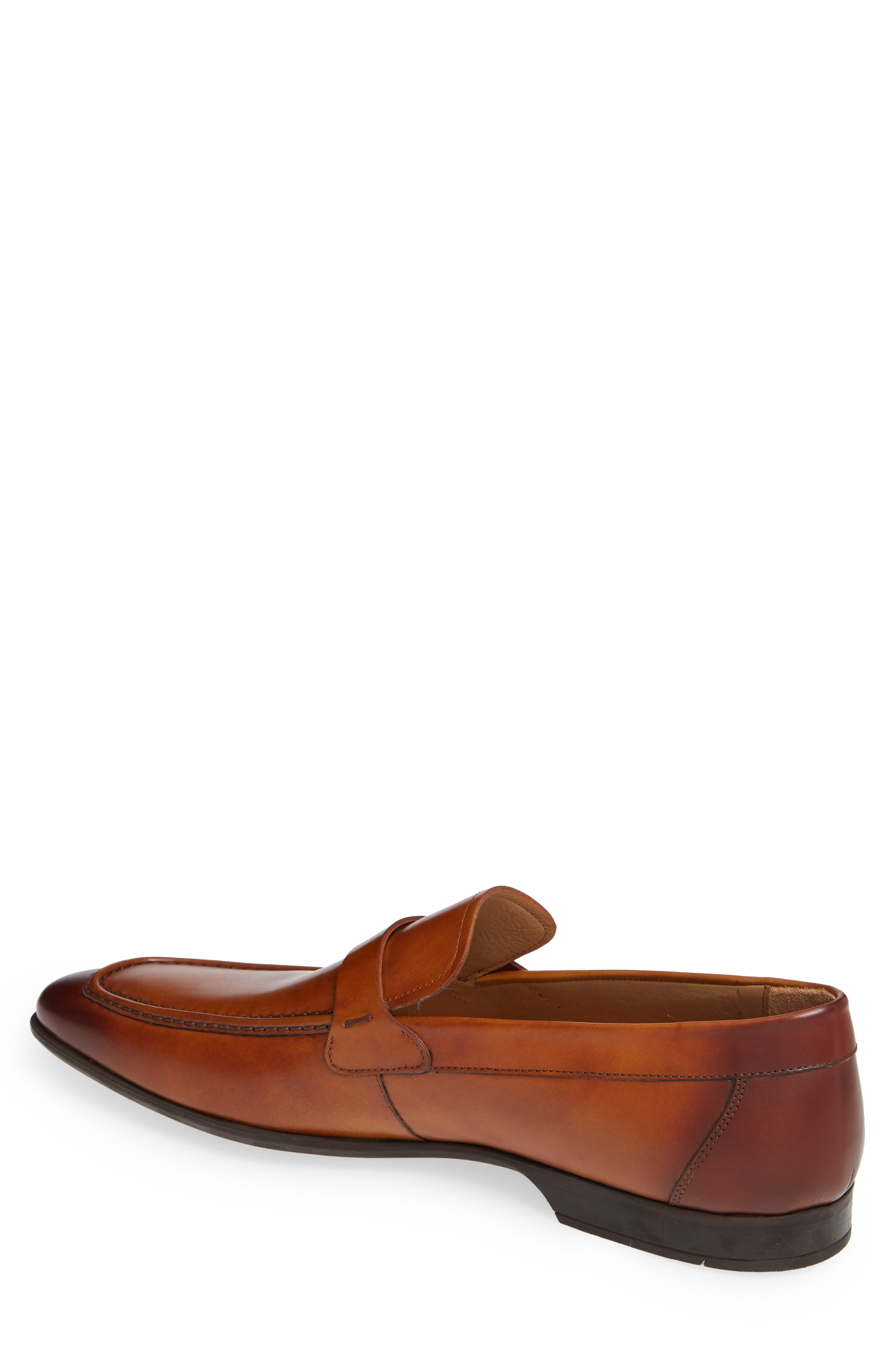 'Lino' Loafer,                             Alternate thumbnail 2, color,                             BROWN LEATHER