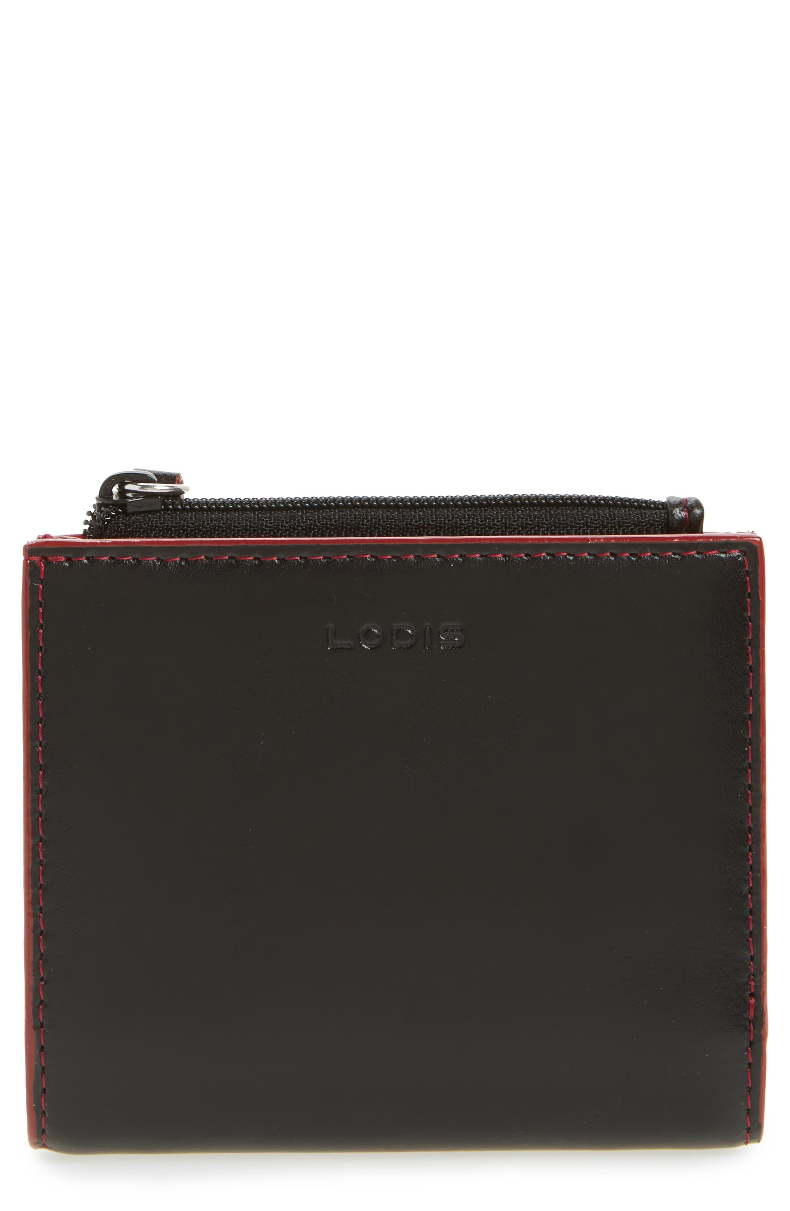 Audrey Under Lock & Key Aldis Leather Wallet,                             Main thumbnail 1, color,