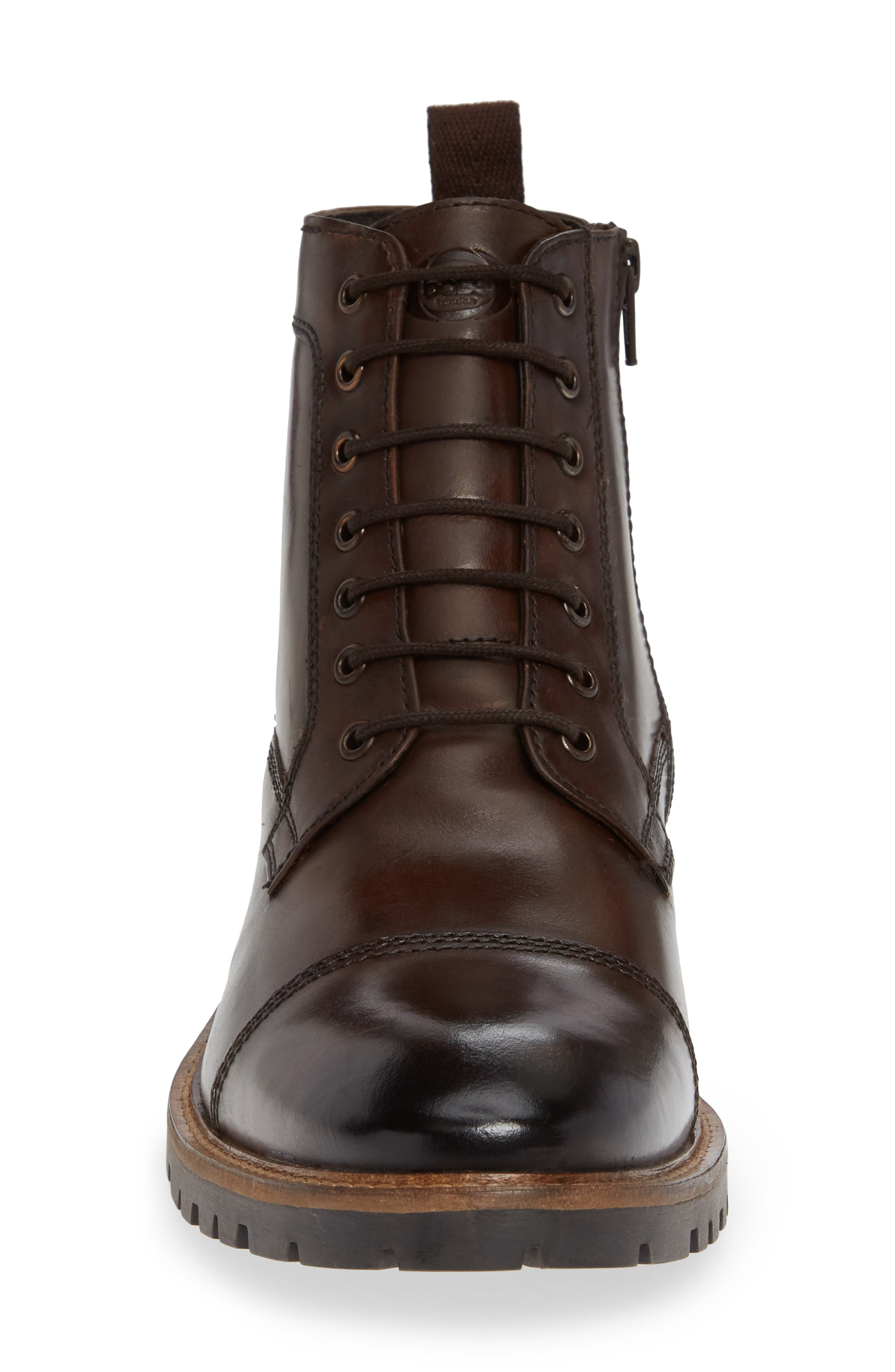 Lugged Cap Toe Boot,                             Alternate thumbnail 4, color,                             BROWN