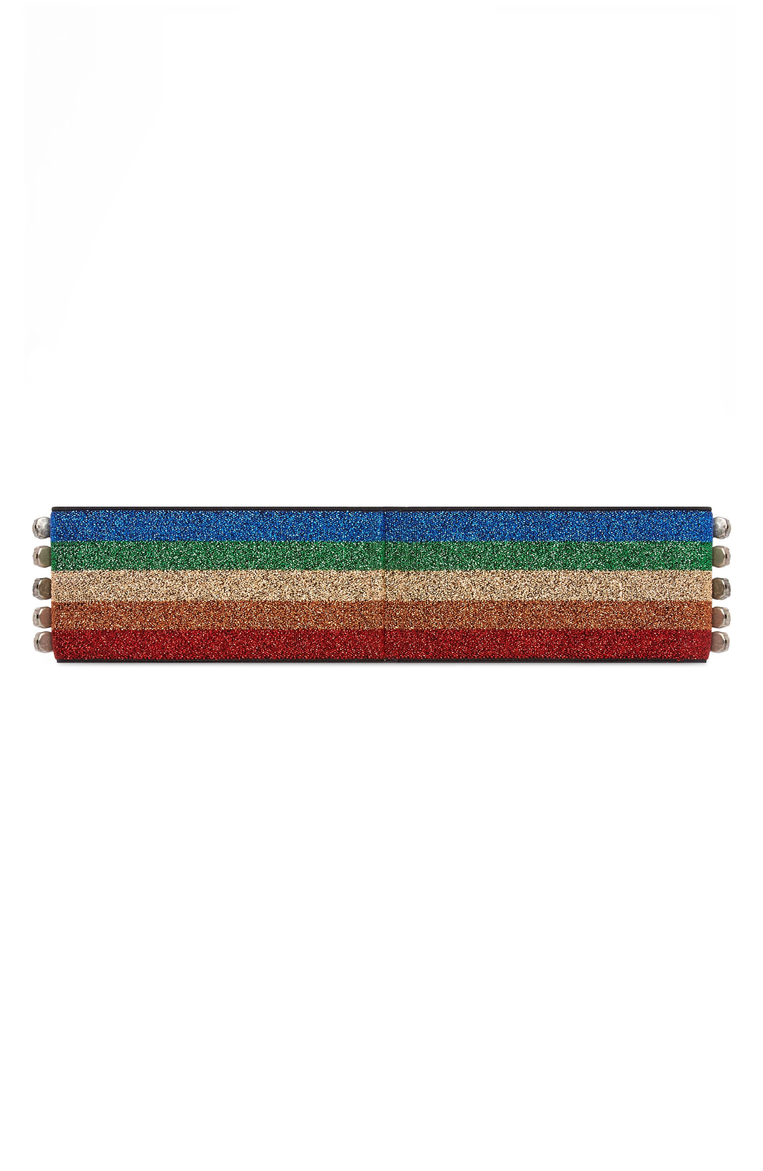 Webby Rainbow Crystal Headband,                             Alternate thumbnail 5, color,