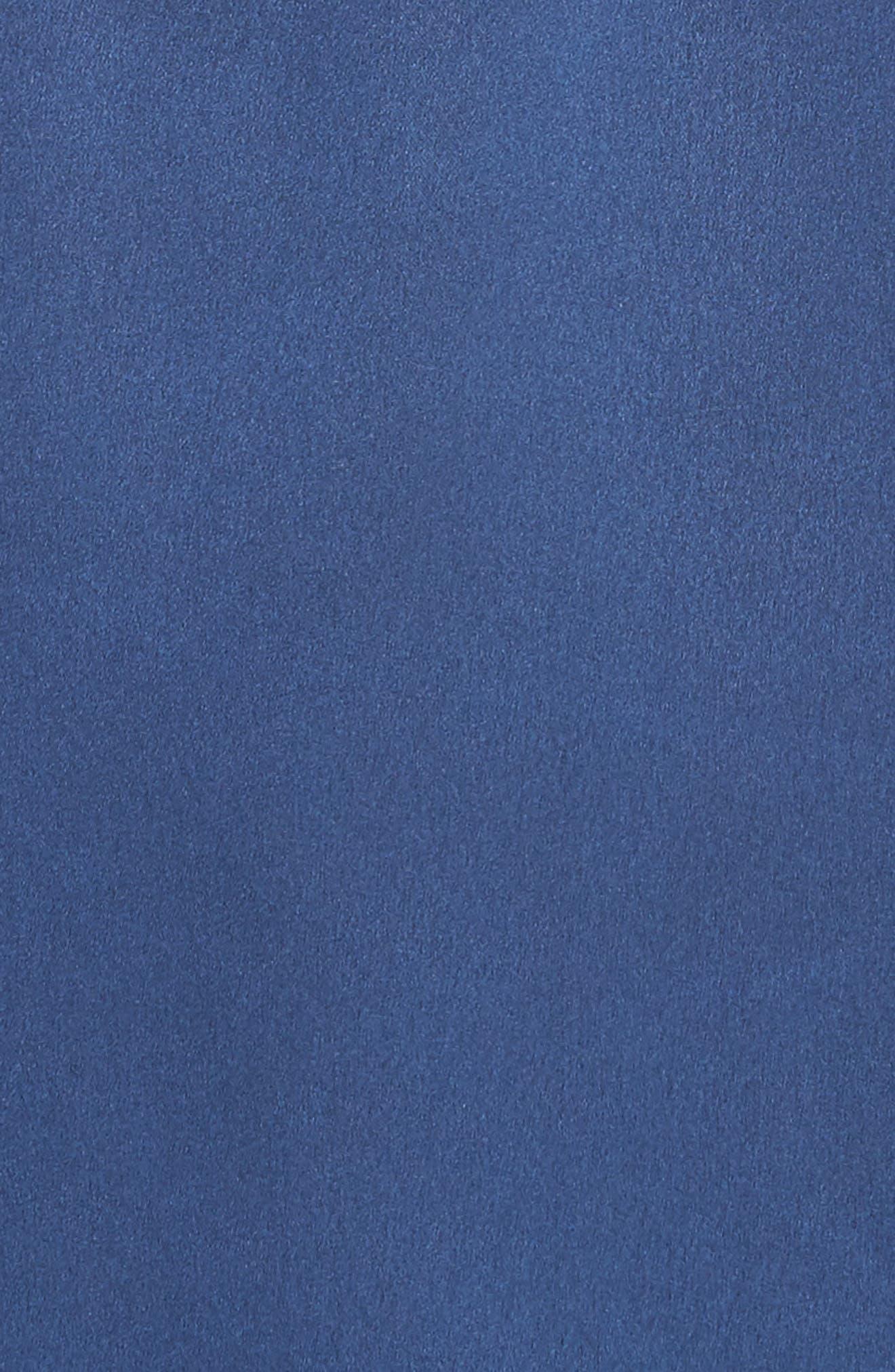 SELF-PORTRAIT,                             Arrow Trim Satin Minidress,                             Alternate thumbnail 6, color,                             400
