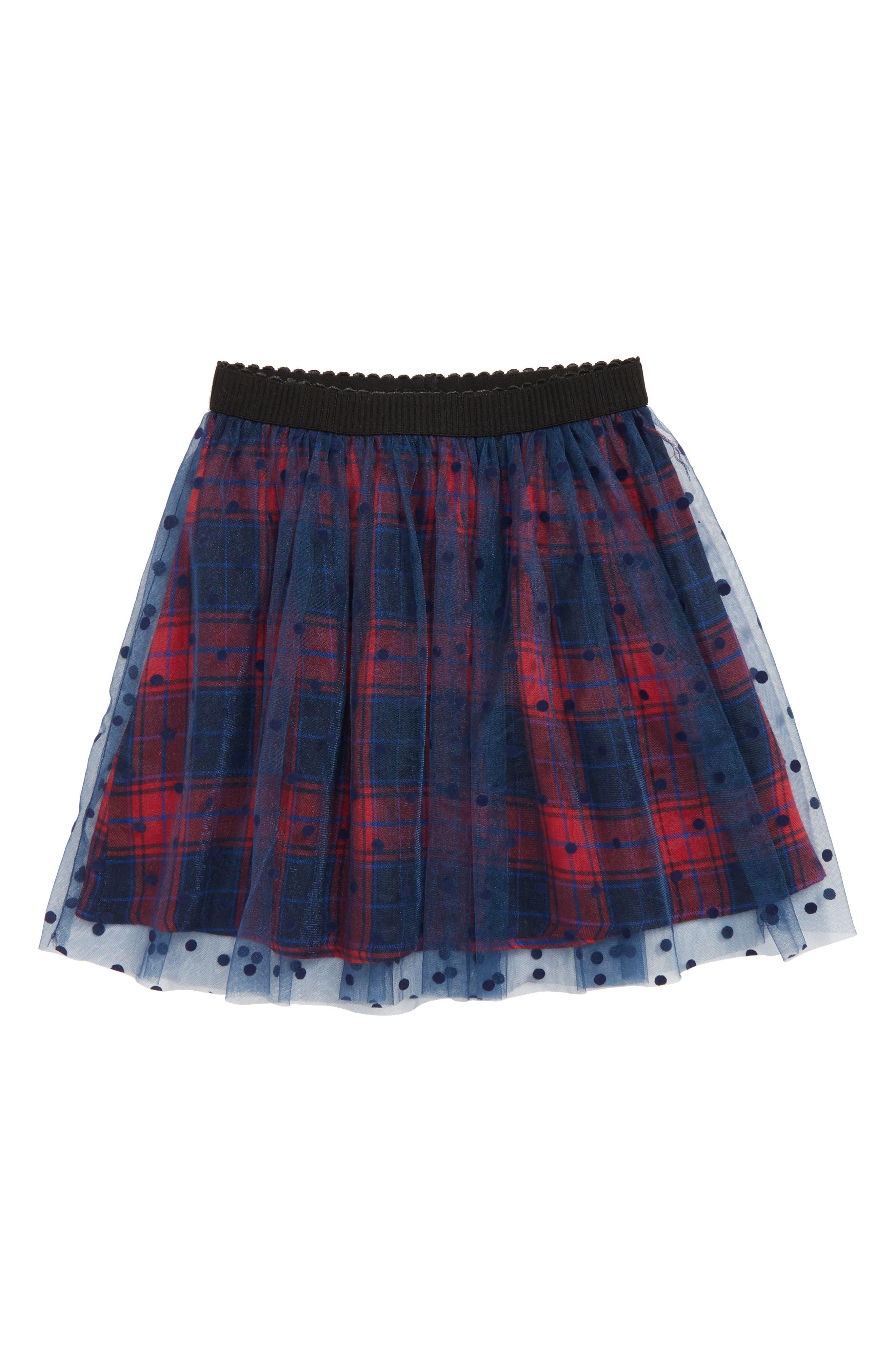 Polka Dot Plaid Tutu Skirt,                         Main,                         color, 418