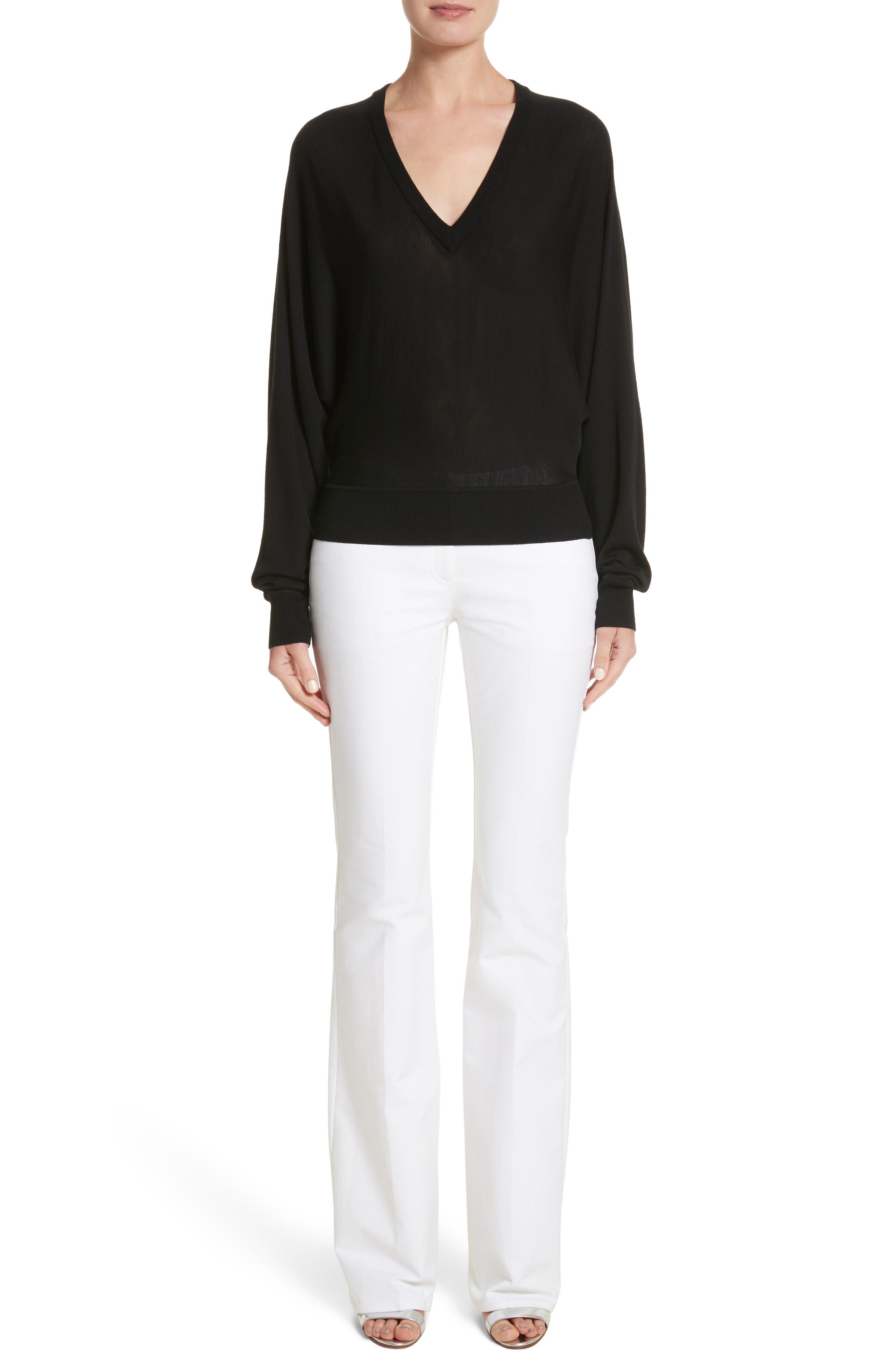 Merino Wool Blend Dolman Sweater,                             Alternate thumbnail 7, color,                             001